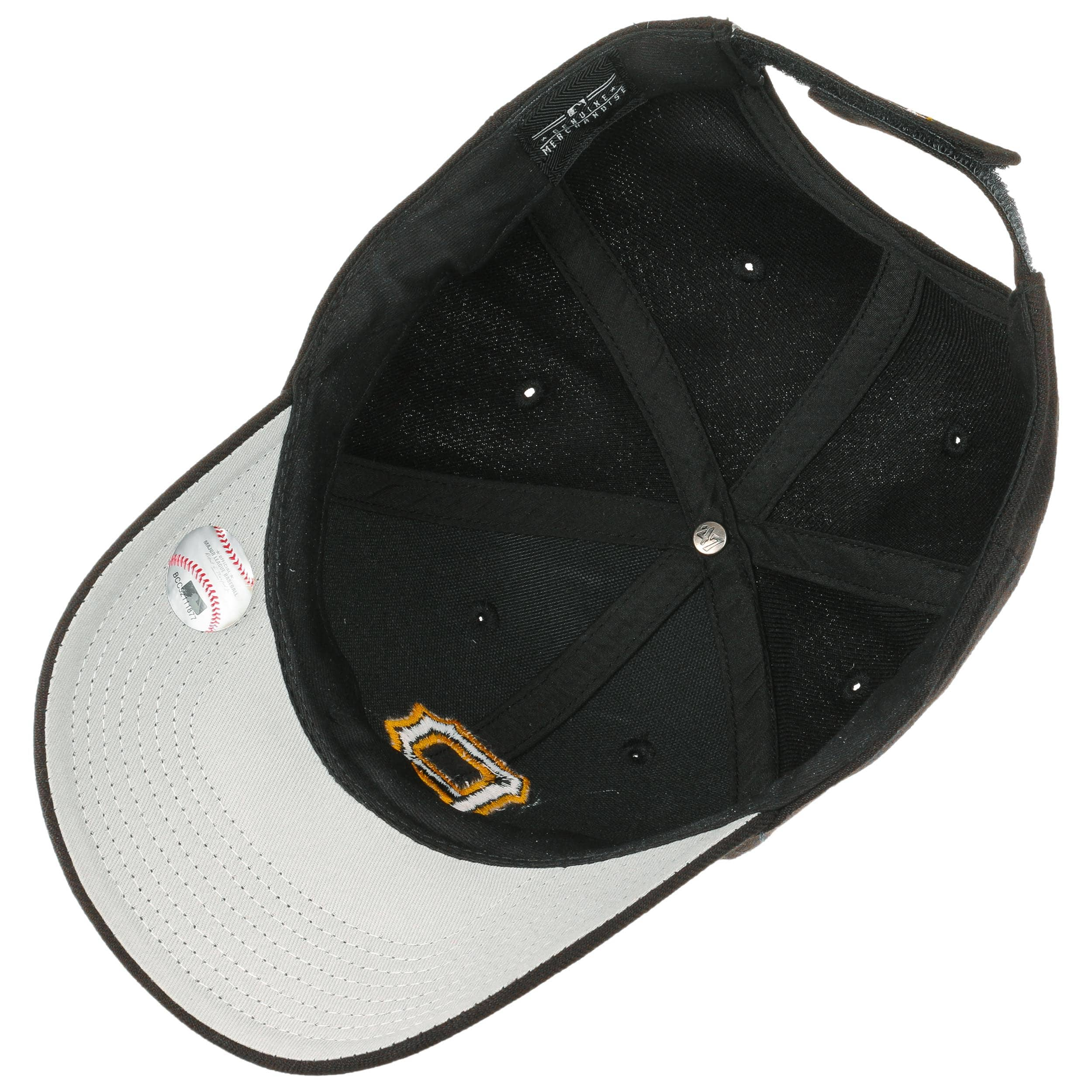 0192e6173e1b7 ... MVP Pirates Cap by 47 Brand - black-black 2 ...