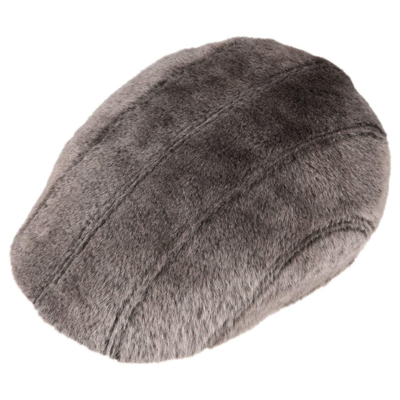 Madison Lamb Fur Flat Cap by Stetson - brown 2 ... 119a184853c2