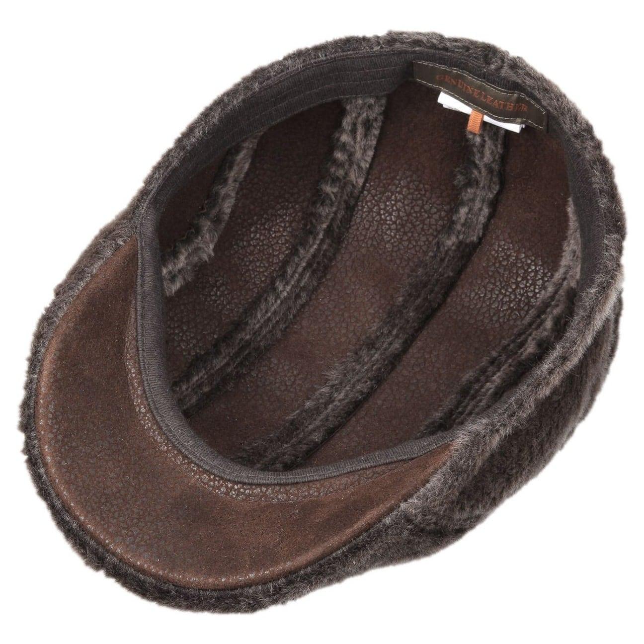 ... Madison Lamb Fur Flat Cap by Stetson - brown 3 ... 1d4488a3f45c