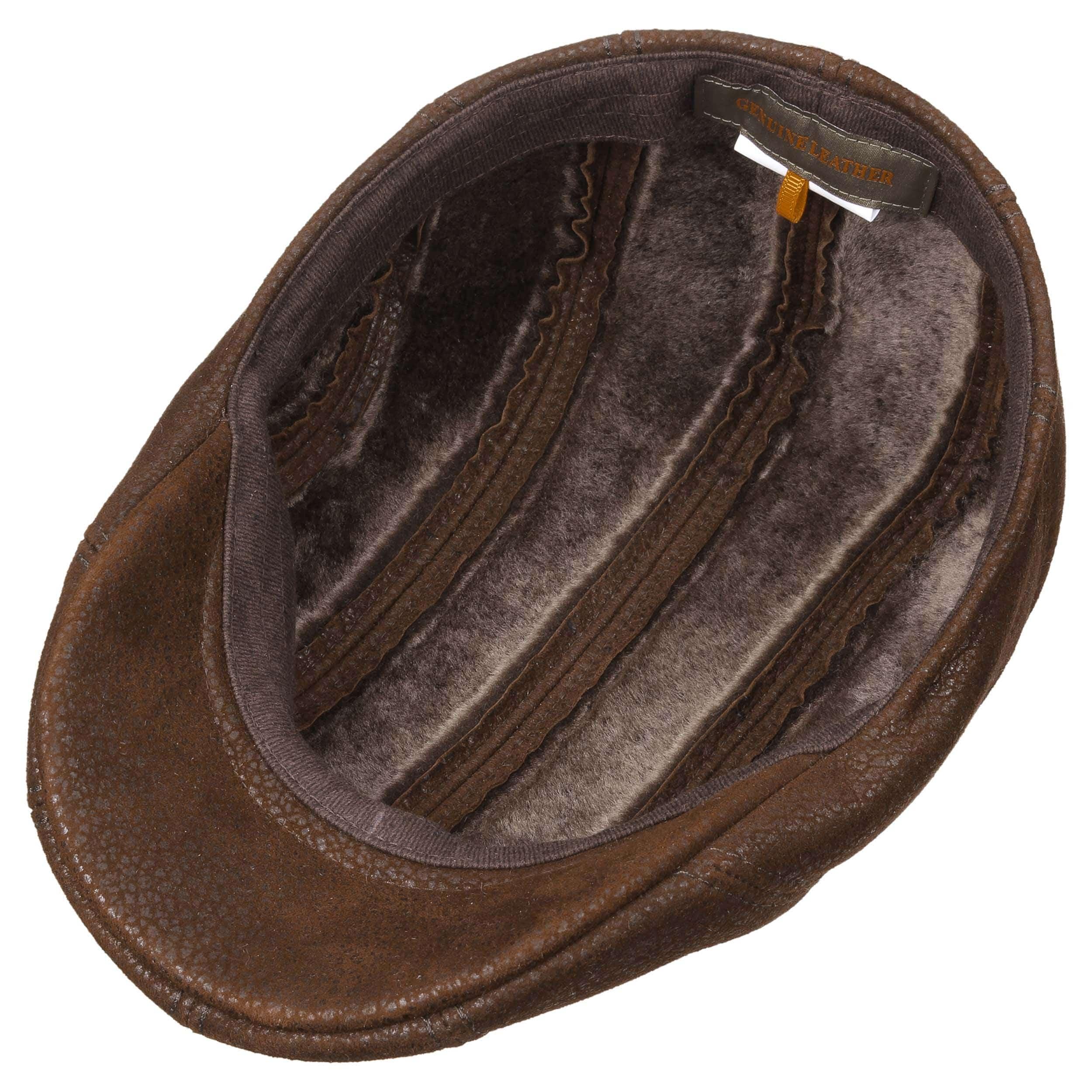 ... Madison Lamb Fur Inside Cap by Stetson - brown 2 ... 4545ca63cf3b