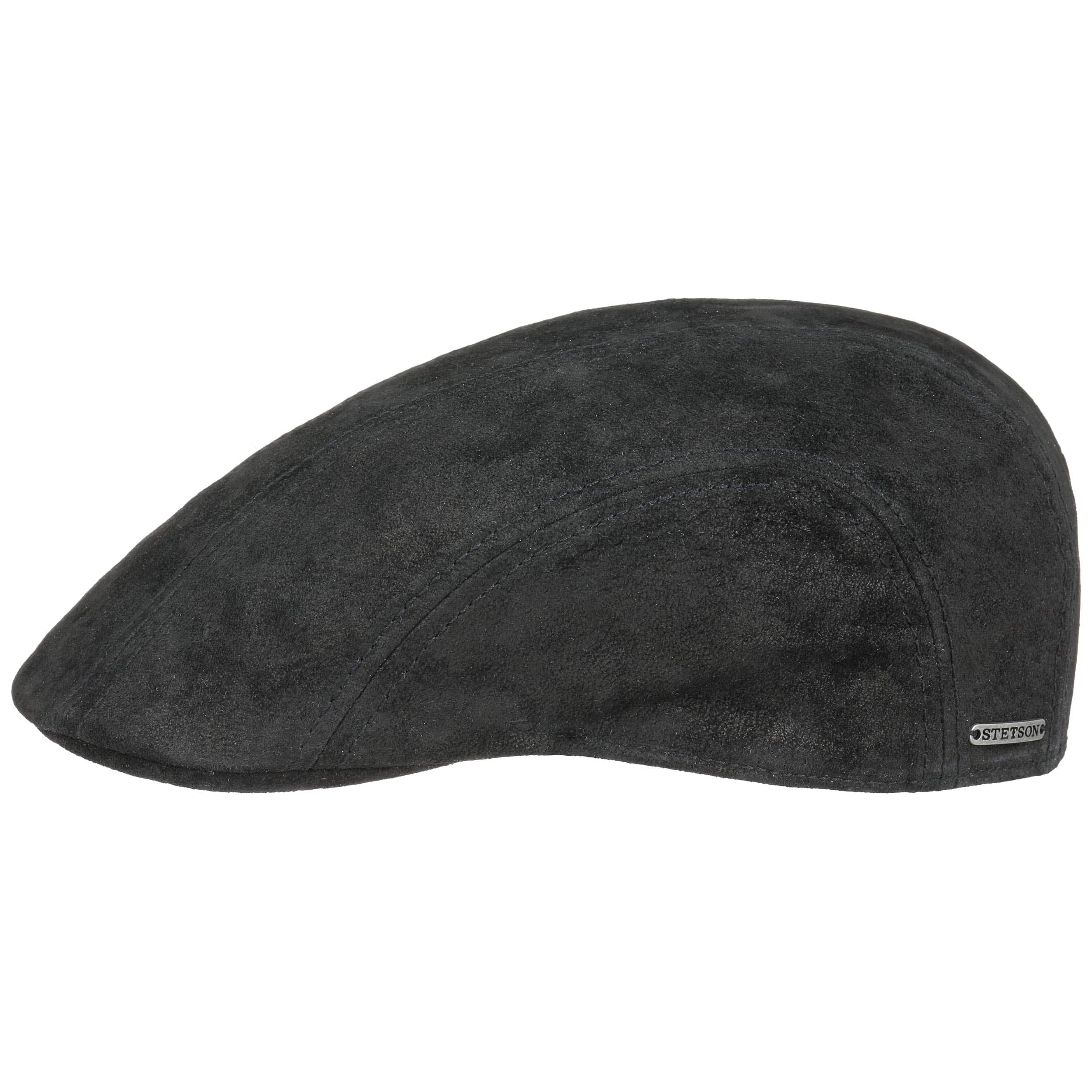 Madison Leather Flat Cap by Stetson b86c5681df6