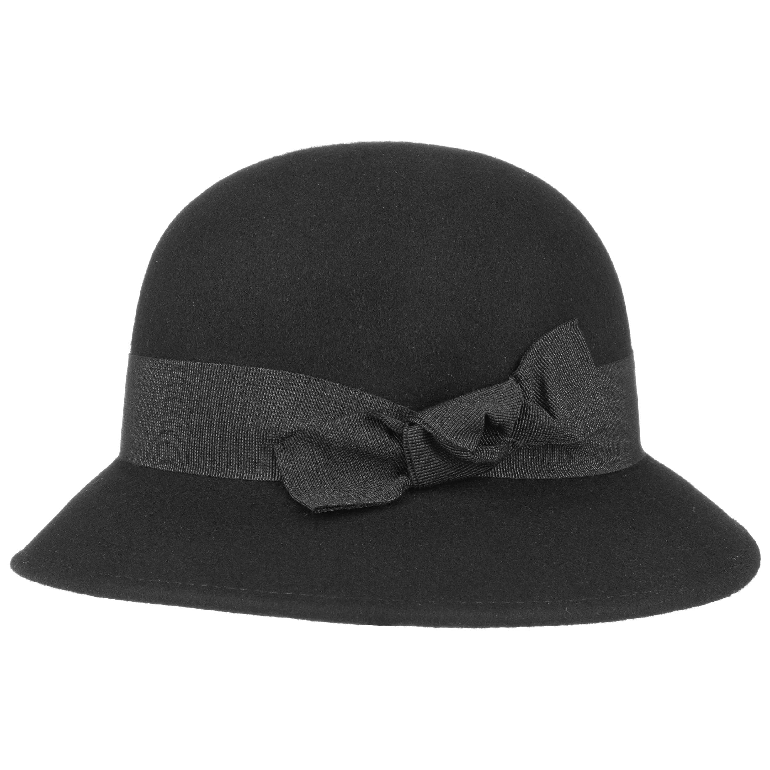 Felt Cloche Hat with Knit Brim by Lierys Floppy hats Lierys angEvSutE