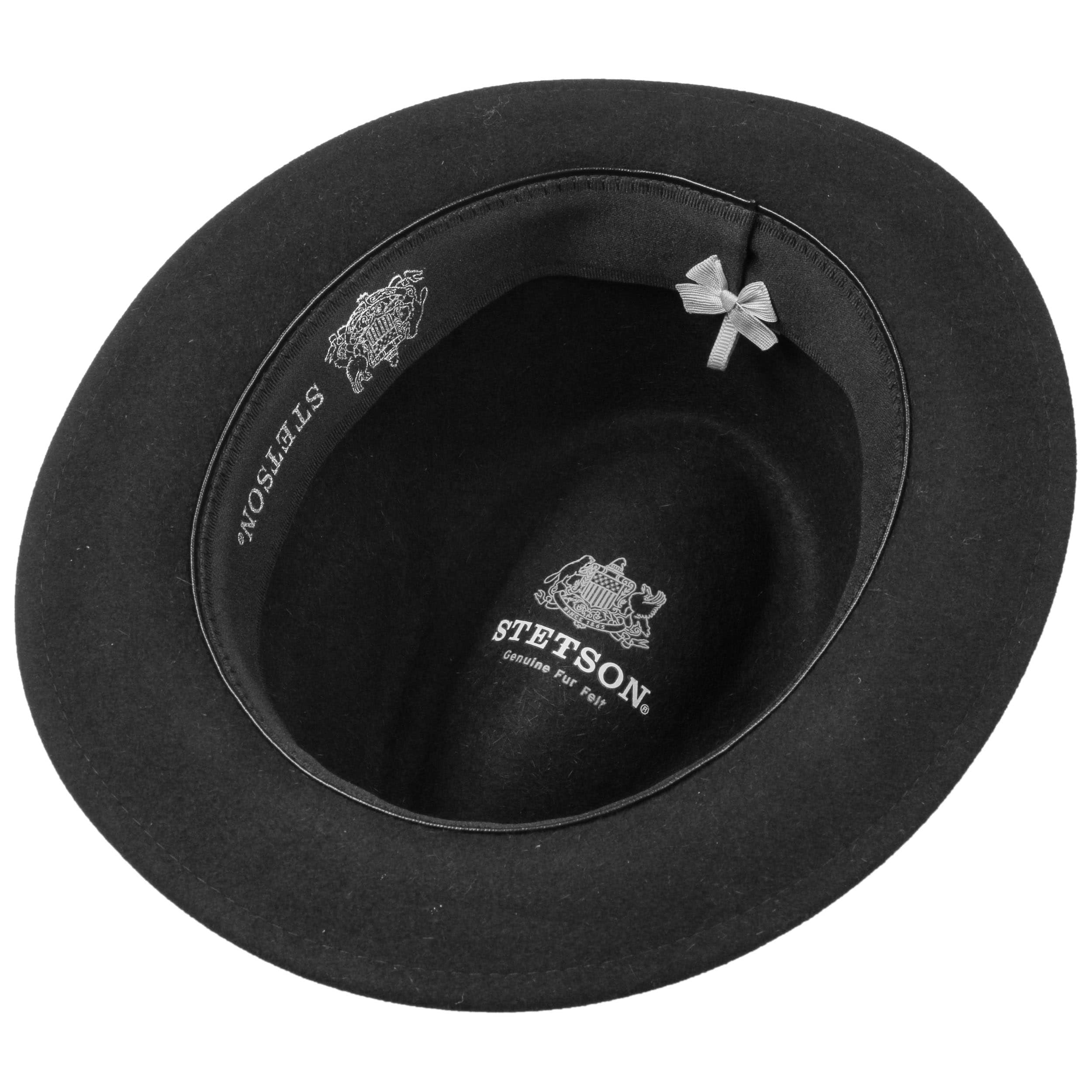 d98eed30274 ... Marico Player Hat Fur Felt Hat by Stetson - black 2 ...