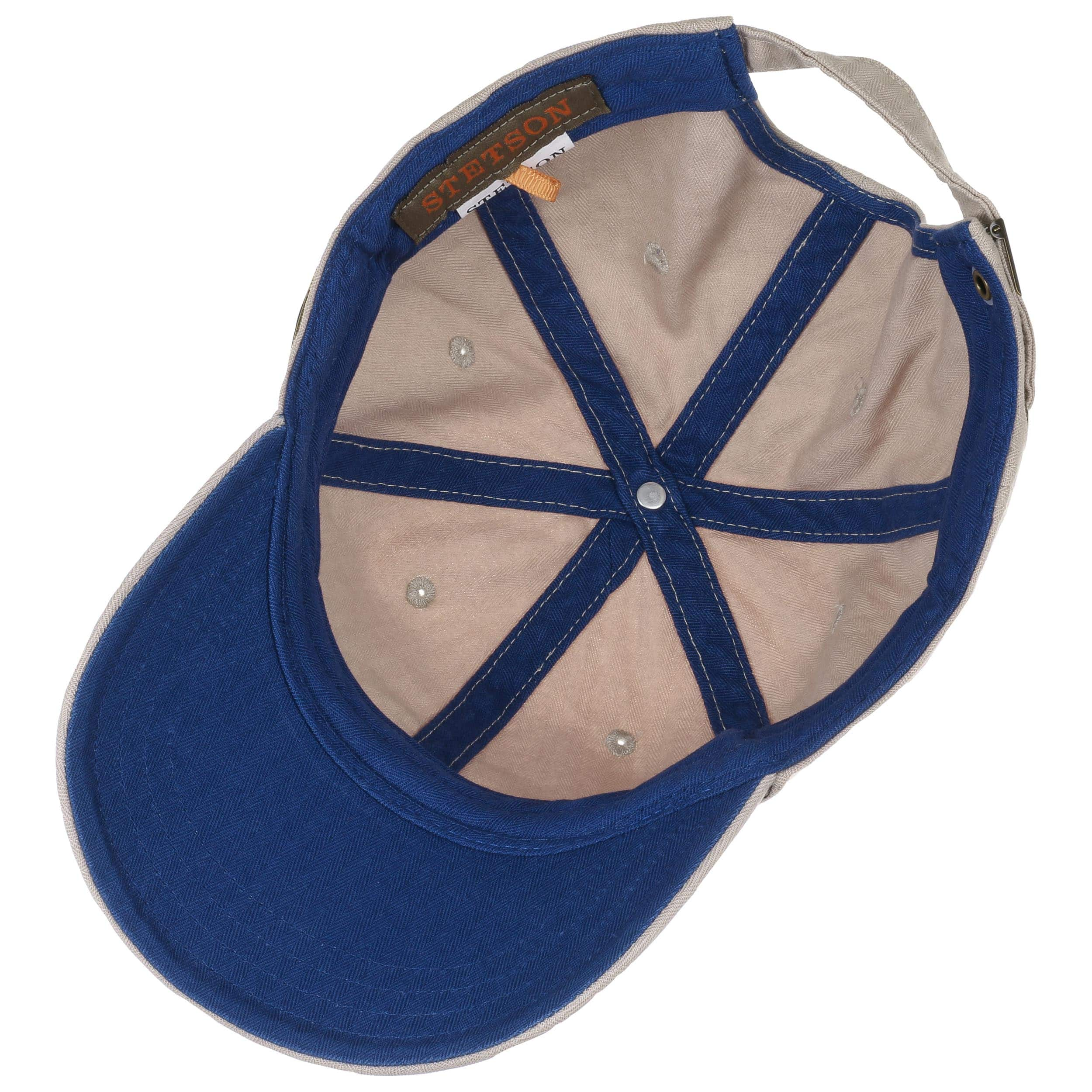06086376014 ... Marshal Cotton Baseball Cap by Stetson - beige-blue 2 ...
