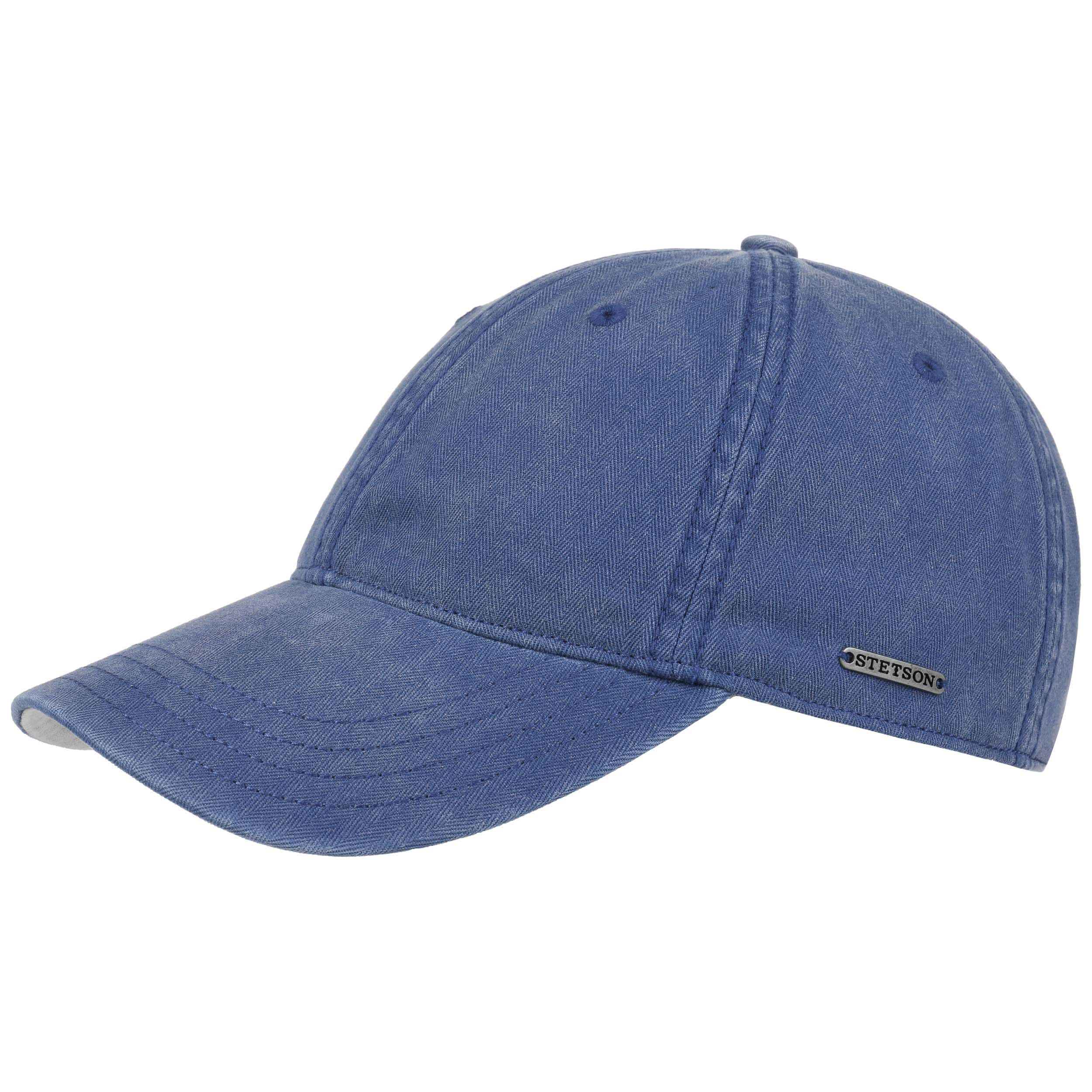 85acc4f6020 ... Marshal Cotton Baseball Cap by Stetson - blue-beige 5 ...