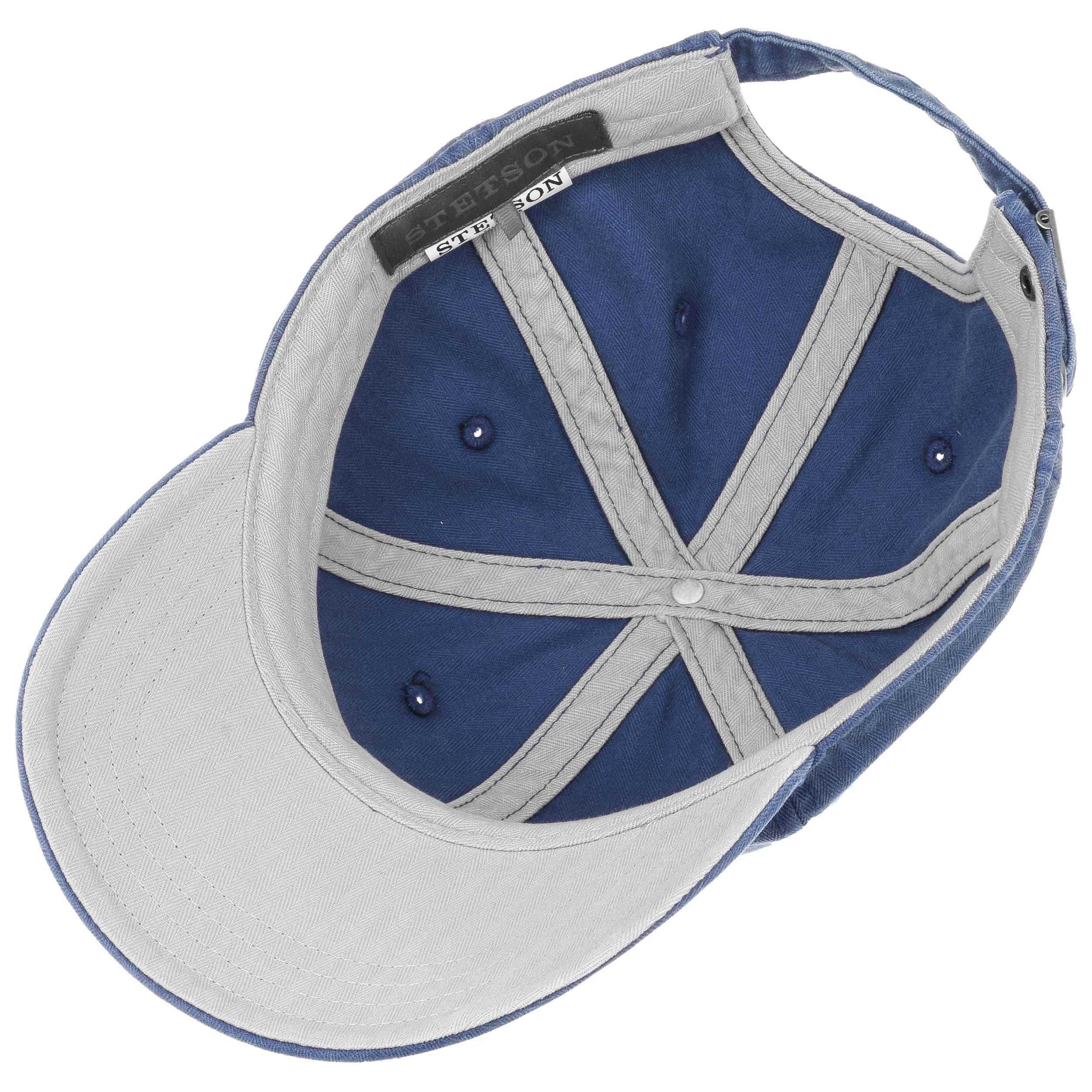 89b7ab47ce8 ... Marshal Cotton Basecap by Stetson - blau-beige 2 ...
