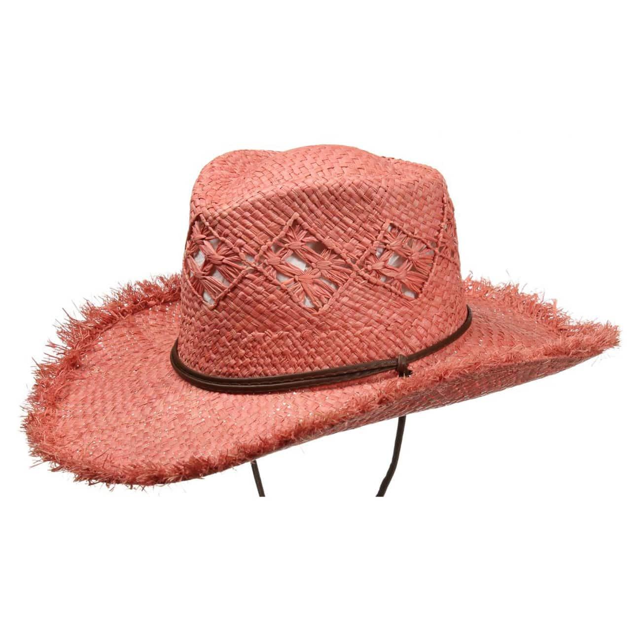 b7edff564c819 ... Masha Cowgirl Straw Hat by Seeberger - pink 1 ...