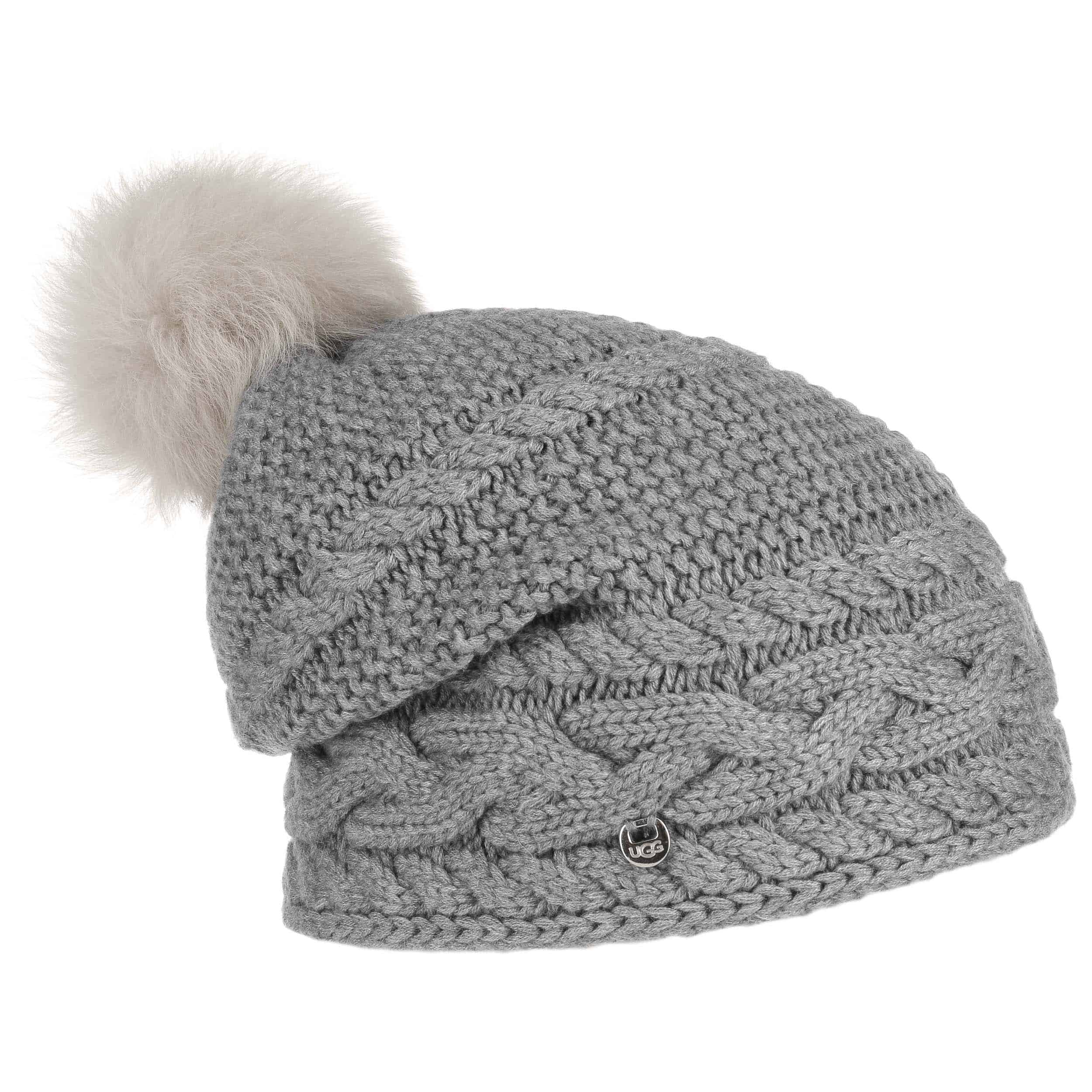 ... Merino Cable Knit Pompom Hat by UGG - grey 1 ... f992df620