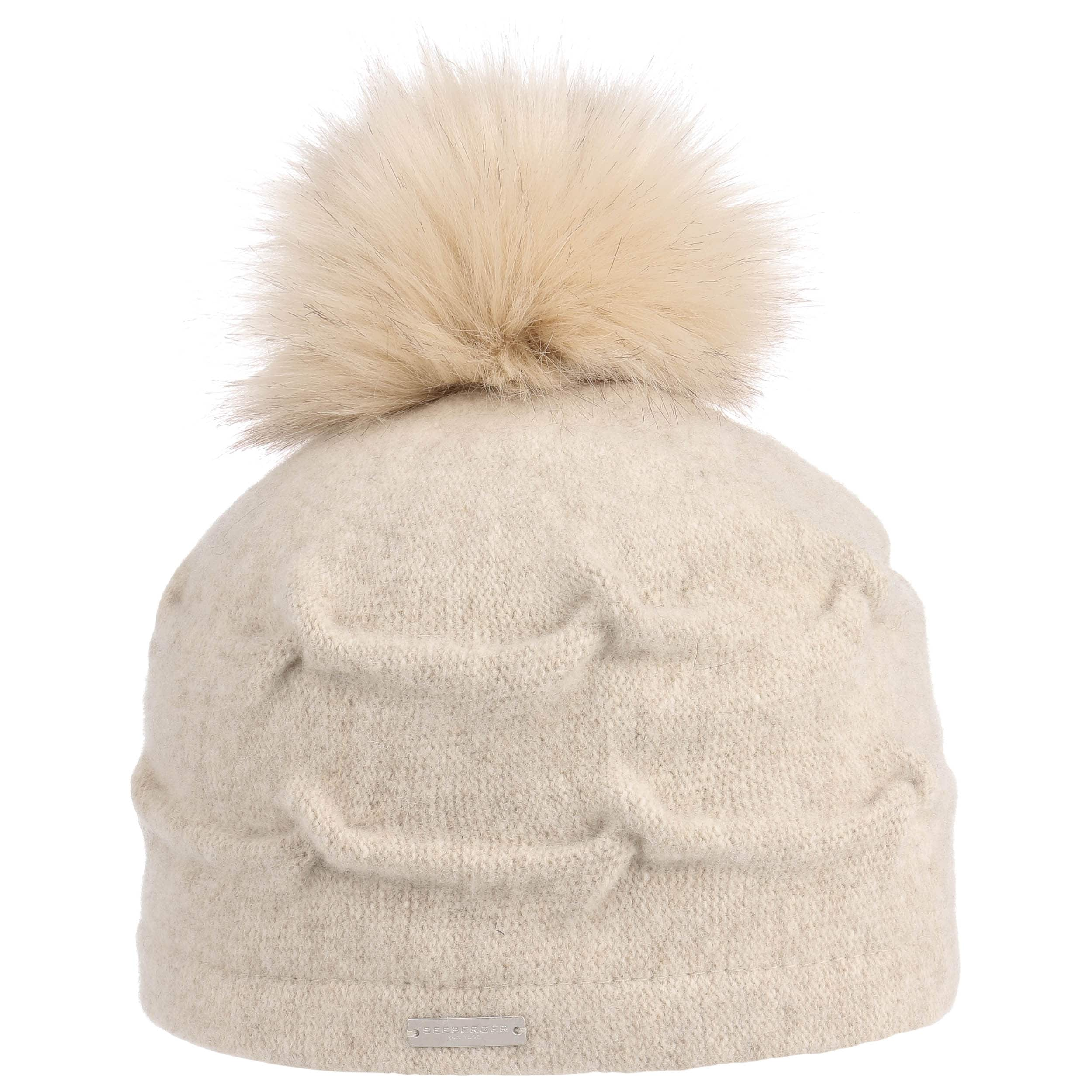 0ca8005aa30 Milled Wool Hat with Pompom by Seeberger