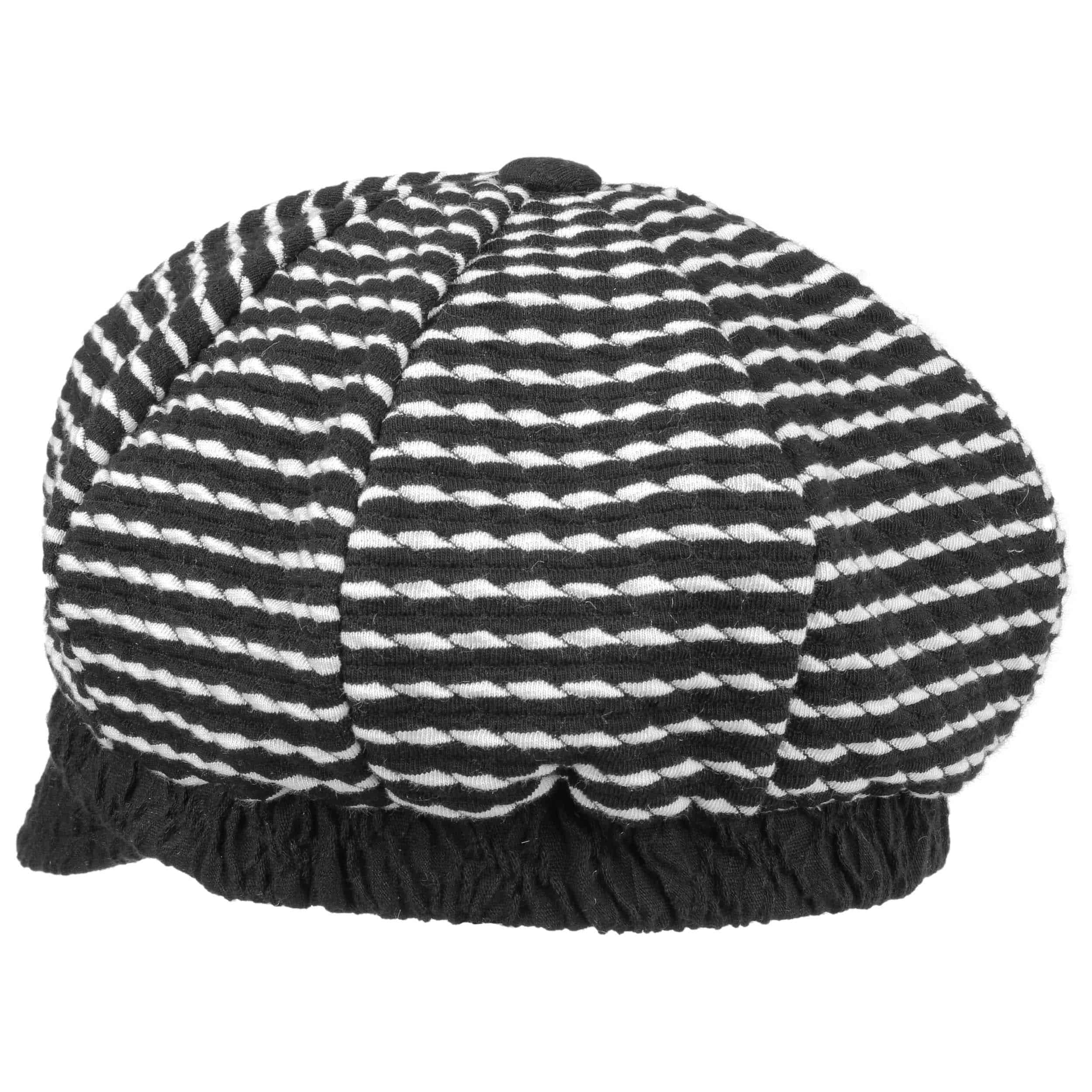 Schirm Herbst-Winter Made in Italy mit Schirm Lierys Monica Ballonm/ütze Baker-Boy-M/ütze Wollcap Damencap Schirmm/ütze Schildm/ütze Damen