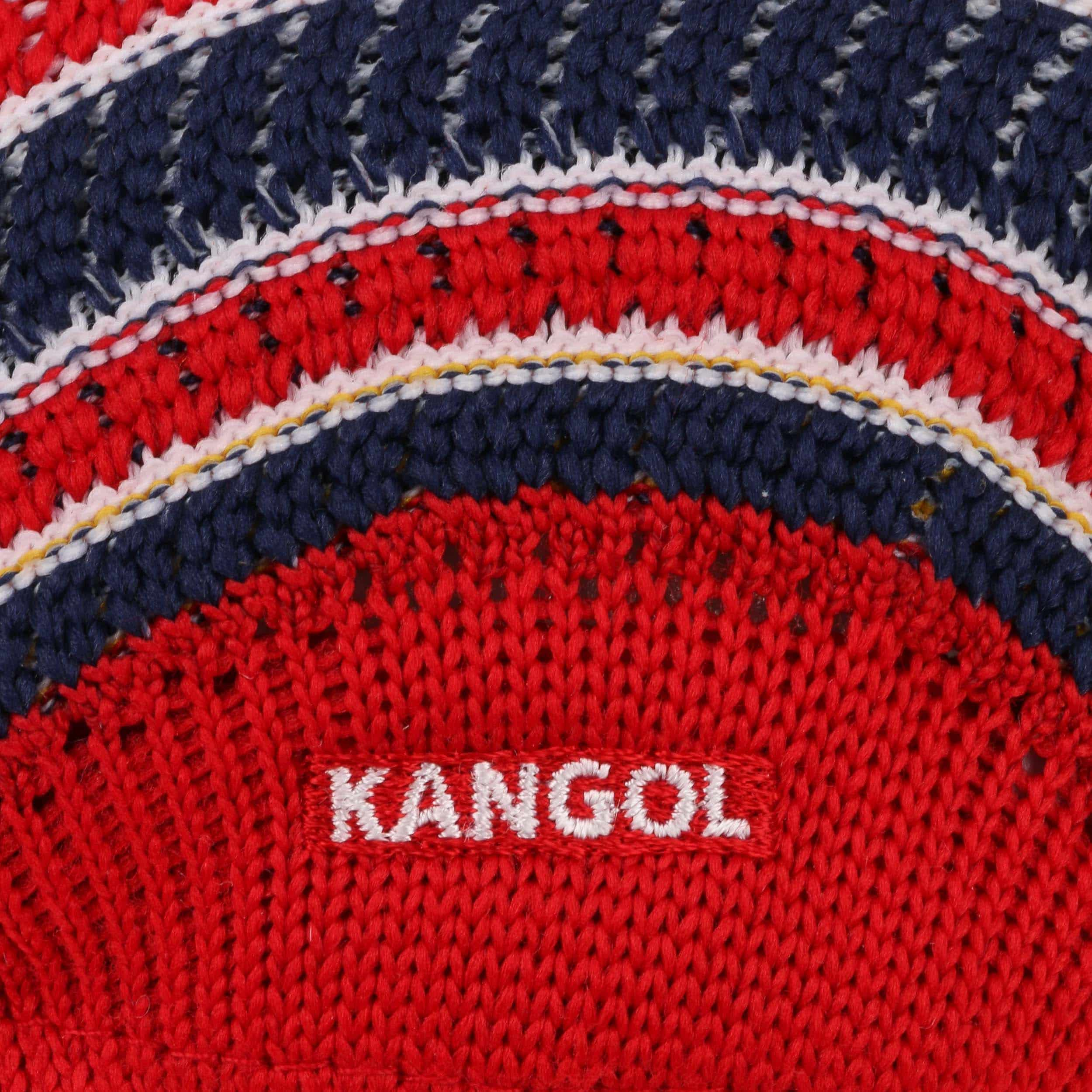 34cd9aa529f ... Mosaic 507 Flat Cap by Kangol - red 3 ...