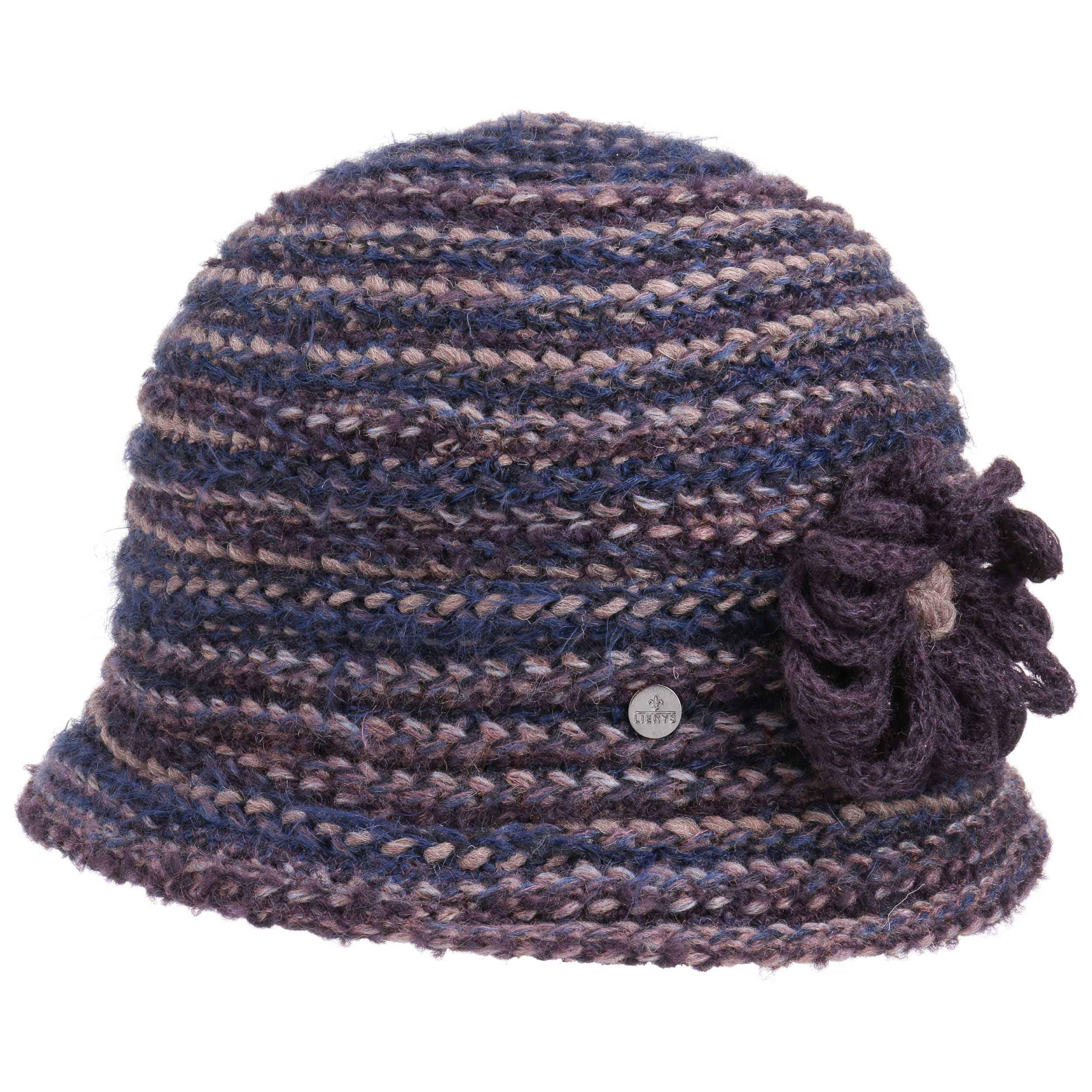 347ef4c31a5 ... Multicolour Knit Hat with Flower by Lierys - purple 6