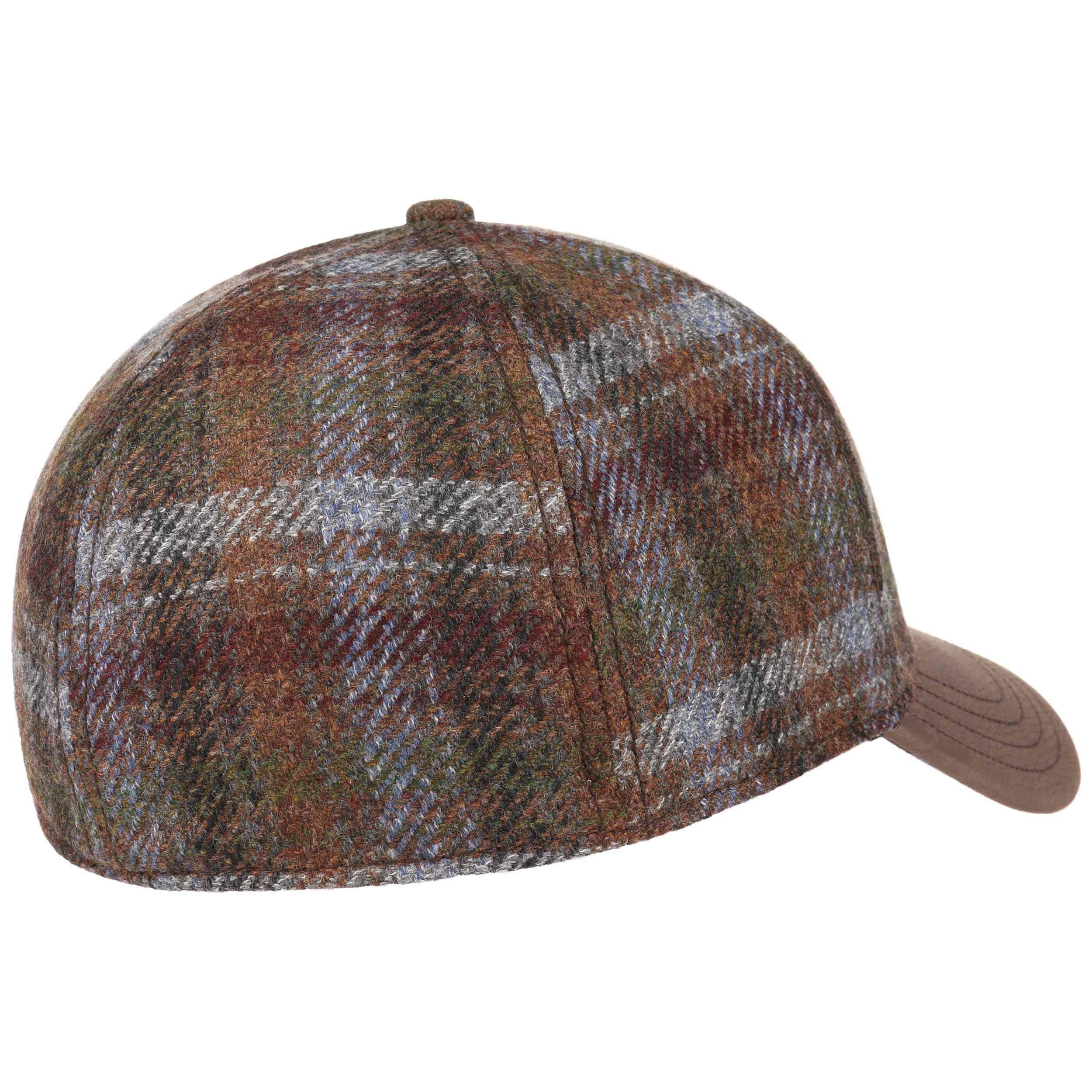 d6efabedcd0 ... Myler Wool Check Baseball Cap by Stetson - brown-grey 3 ...