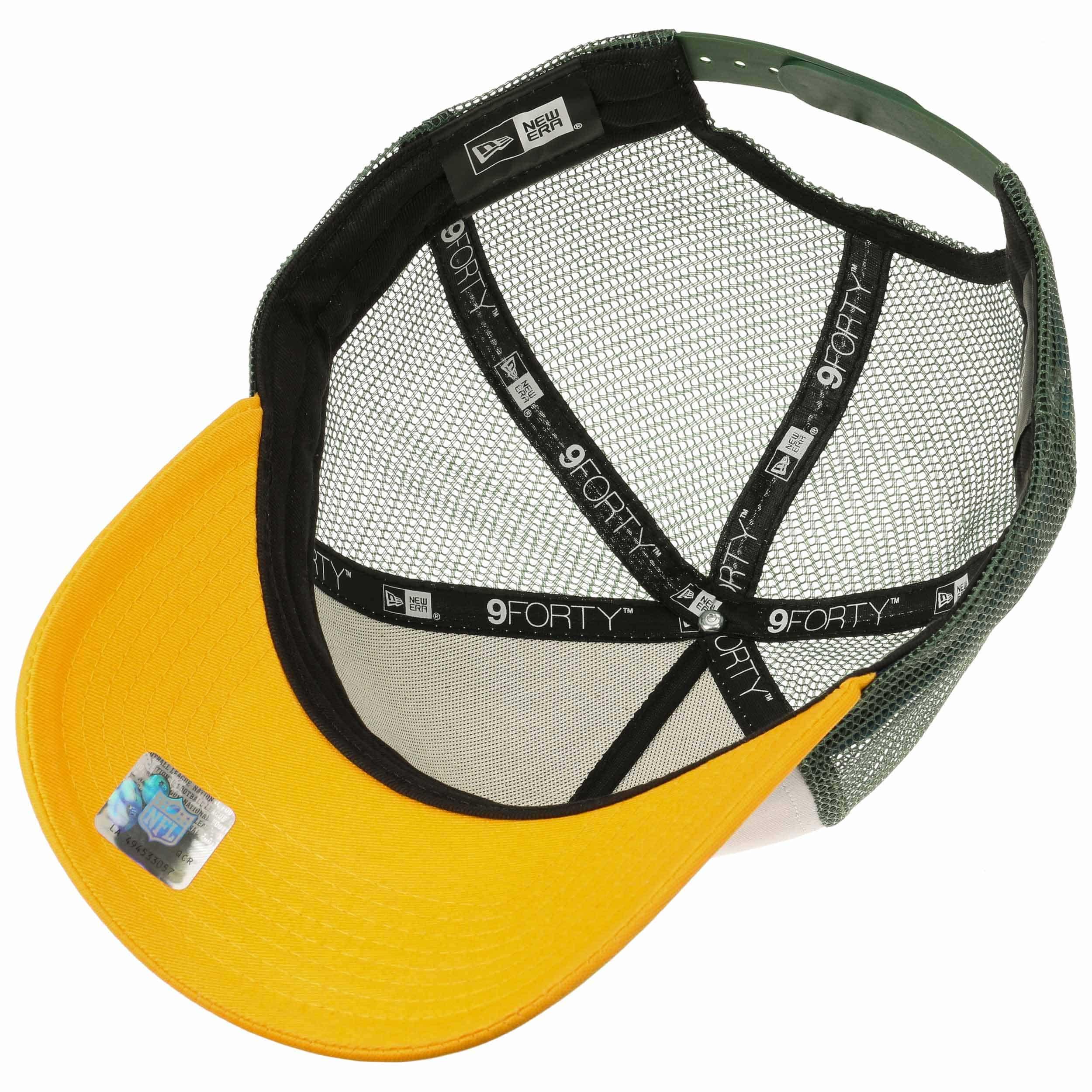 230f47c4b ... NFL Throwback Packers Trucker Cap by New Era - white 2 ...