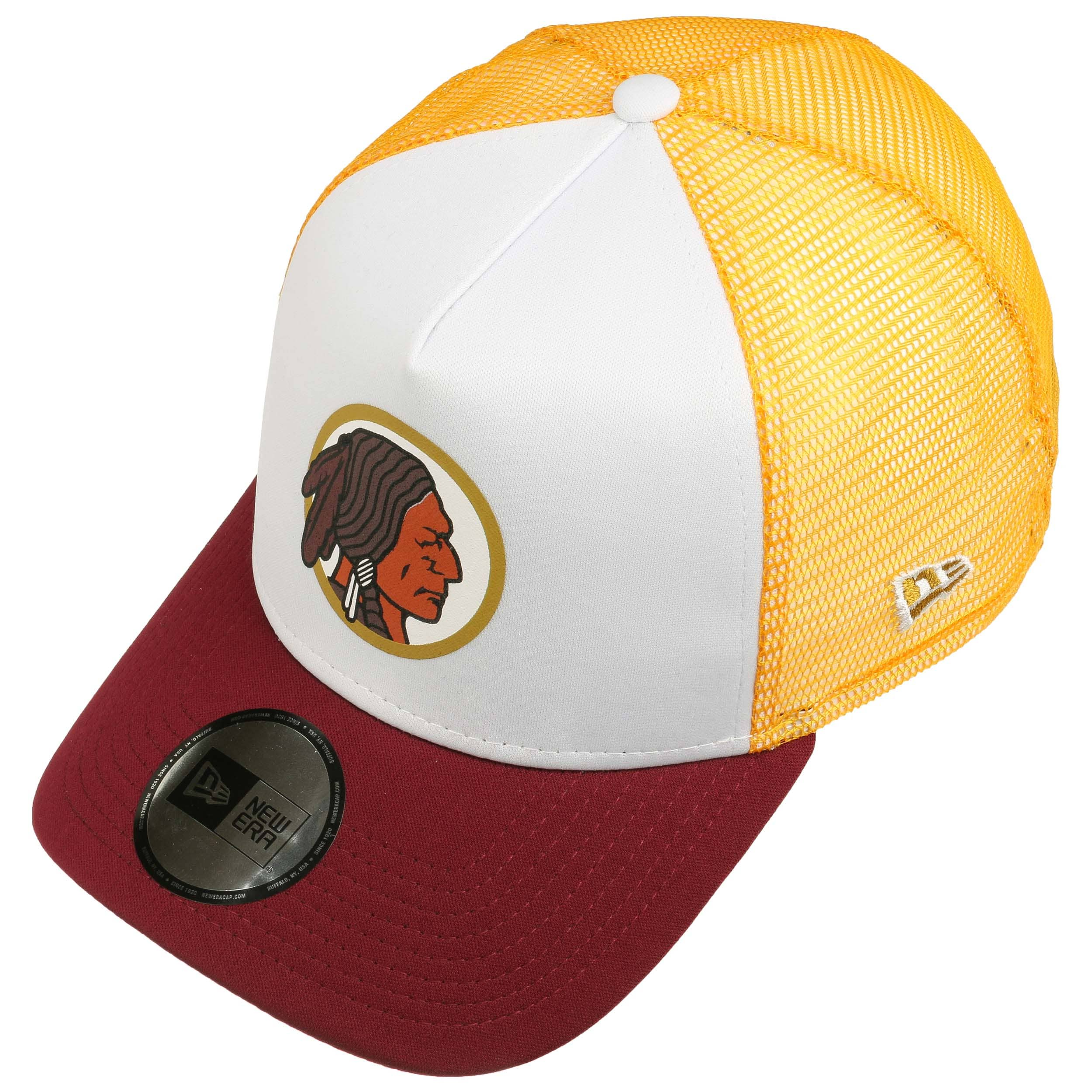 NFL Throwback Redskins Trucker Cap by New Era - white 1 ... 5f6b10cf5d6