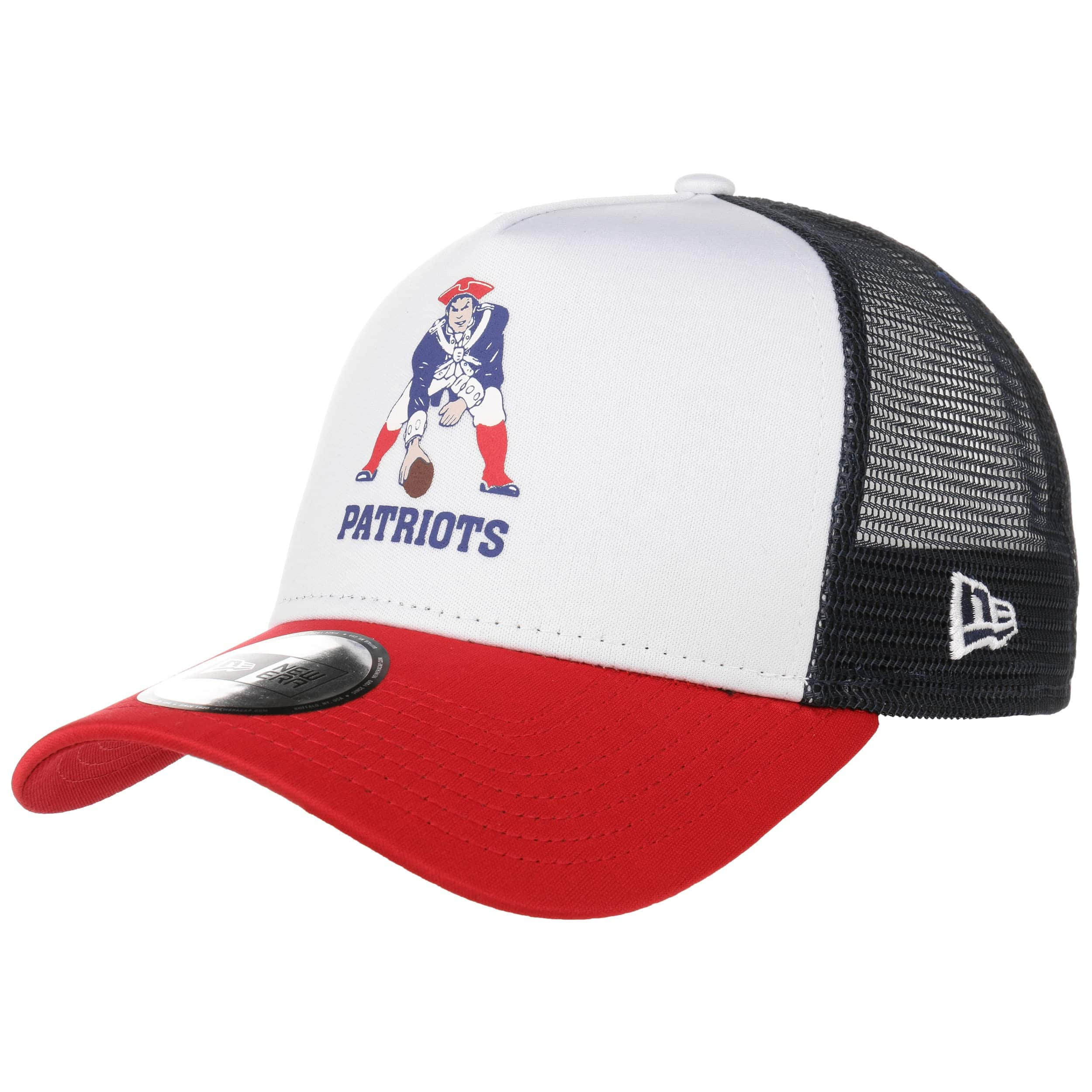 ... NFL Throwback Trucker Patriots Cap by New Era - white 6 22ed0be871e