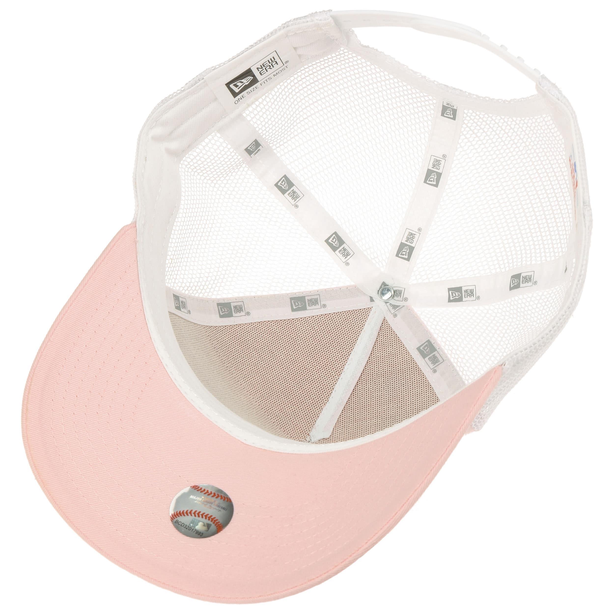 43d3bbe47ac62 ... NY Yankees League Trucker Cap by New Era - pink 2 ...