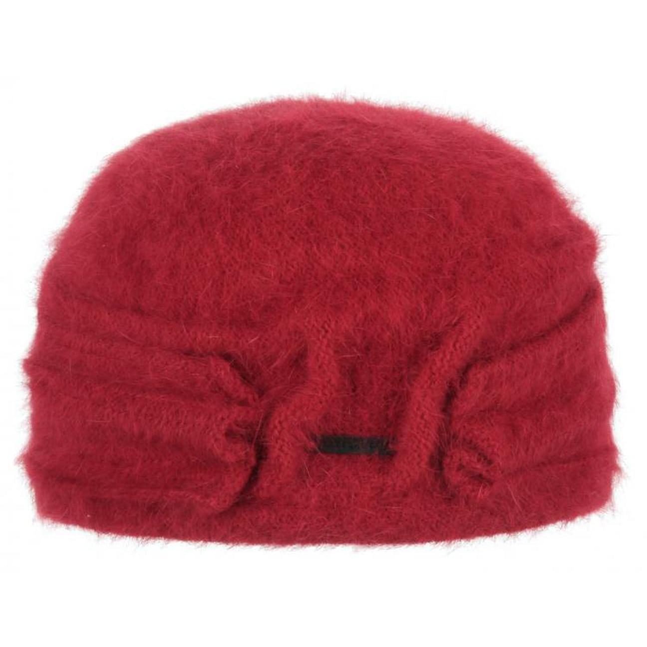 889b7d68a16 ... Nakiska Angora Toque Hat by Seeberger - red 1 ...