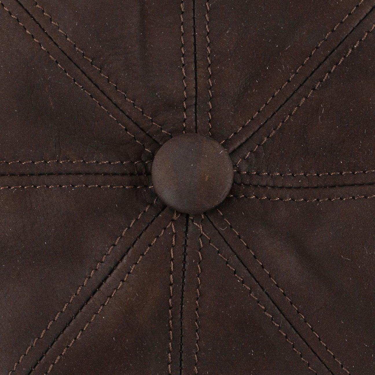 3c5285e18cd462 ... Nappa Wax Leather Flat Cap by Lierys - dark brown 4 ...