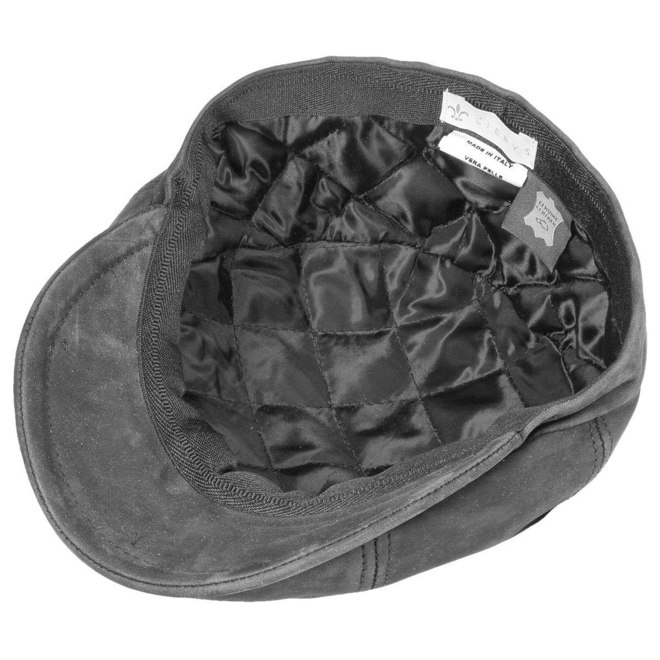b971308a6b3f21 ... Nappa Wax Leather Flat Cap by Lierys - grey 3 ...