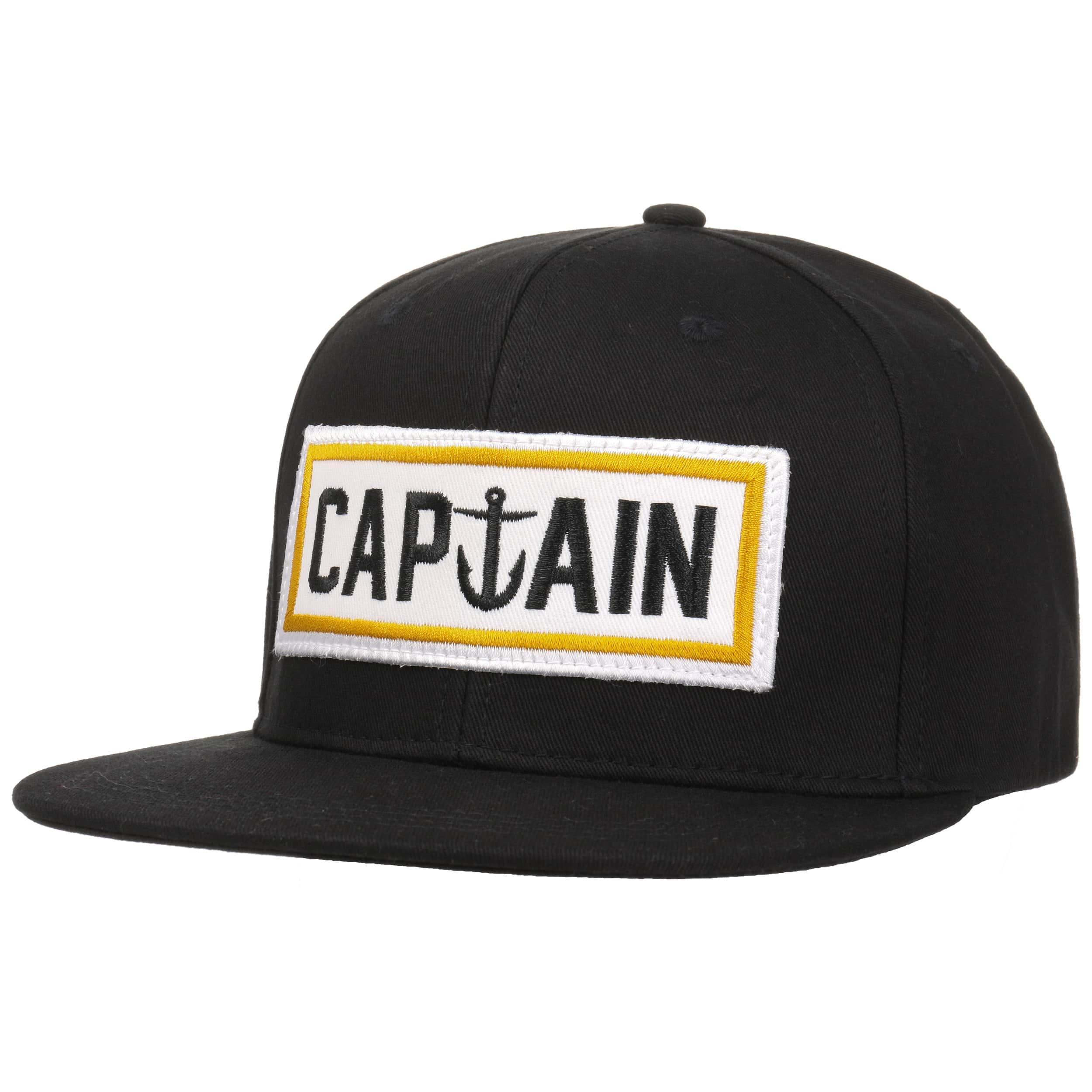 ... Naval Captain Snapback Cap by Captain Fin - black 5 ... ff2ce47e473