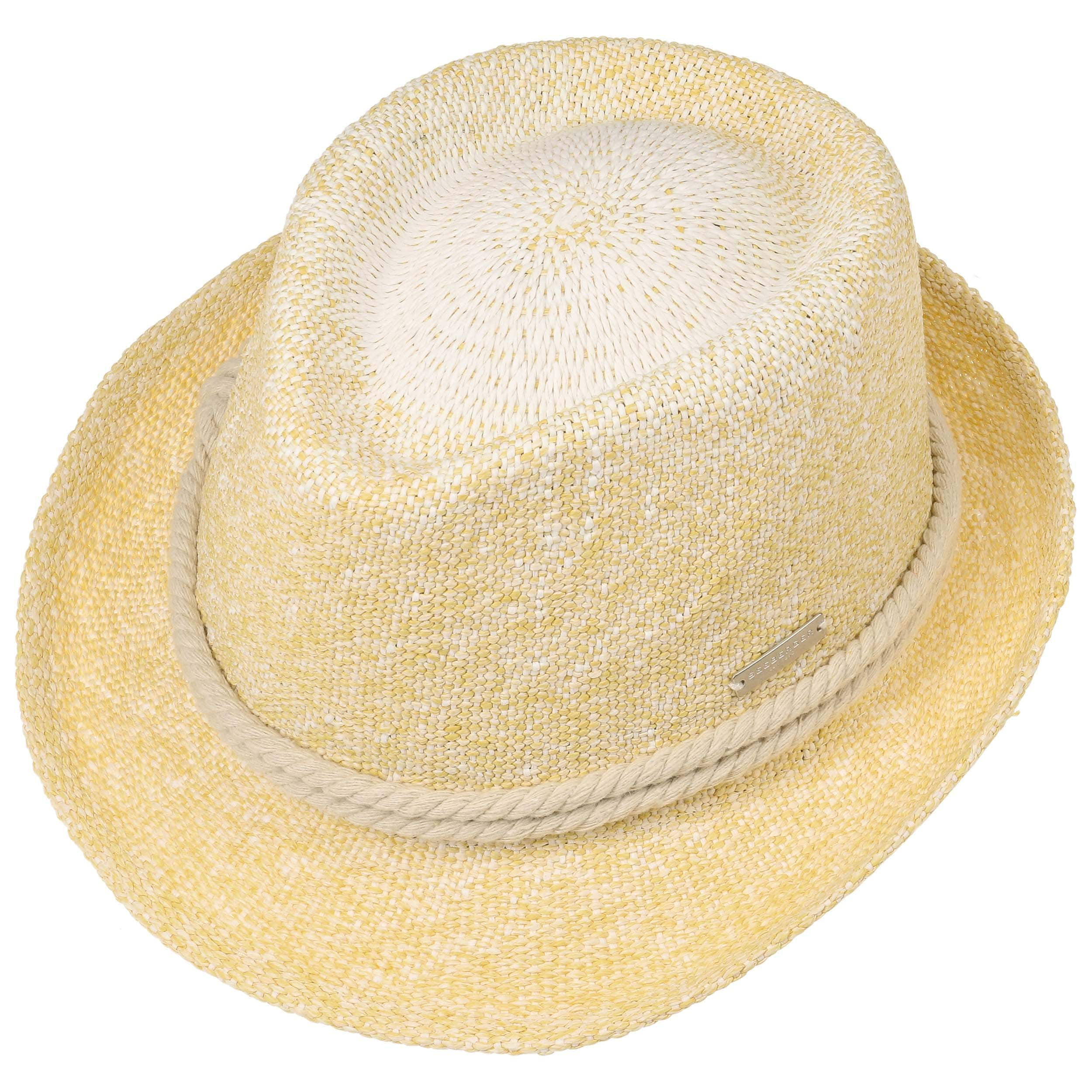 55edf638 ... Nicole Twotone Trilby Straw Hat by Seeberger - yellow-mottled 1 ...