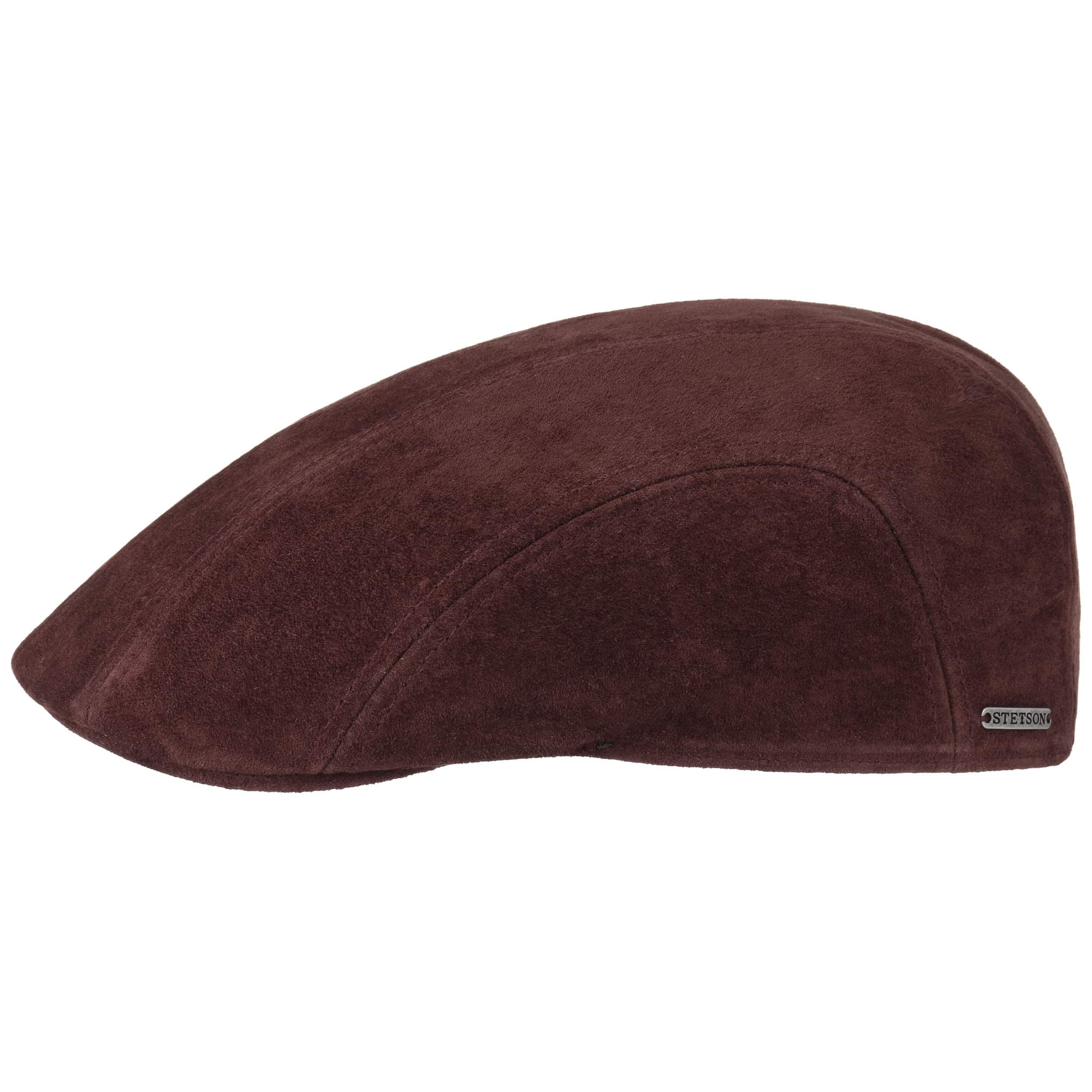 Nubuck Leather Pigskin Flat Cap. by Stetson 20627cabbc4