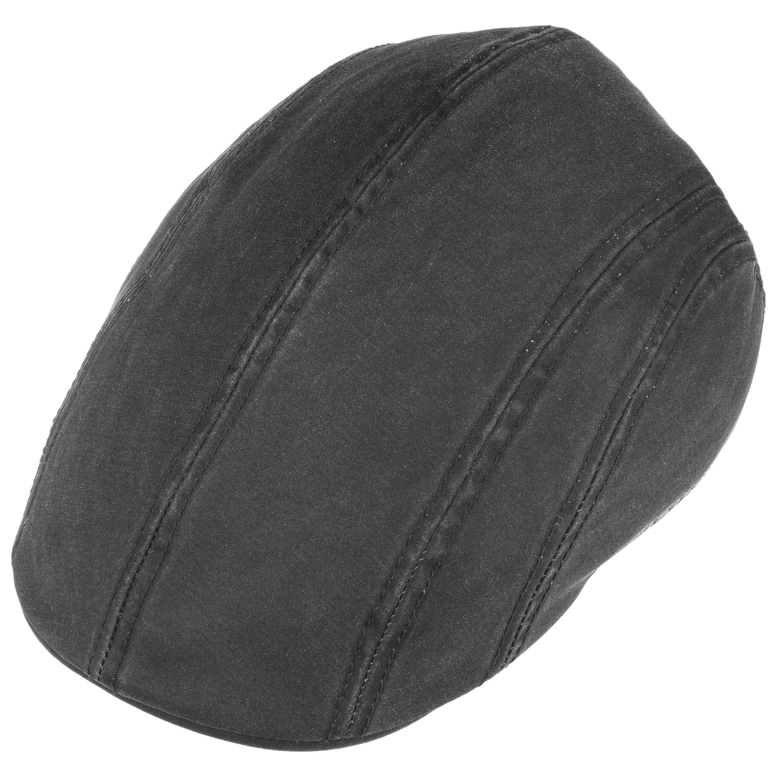 b2dedbba0cc ... Old Cotton Flat Cap with Ear Flaps by Stetson - black 1 ...