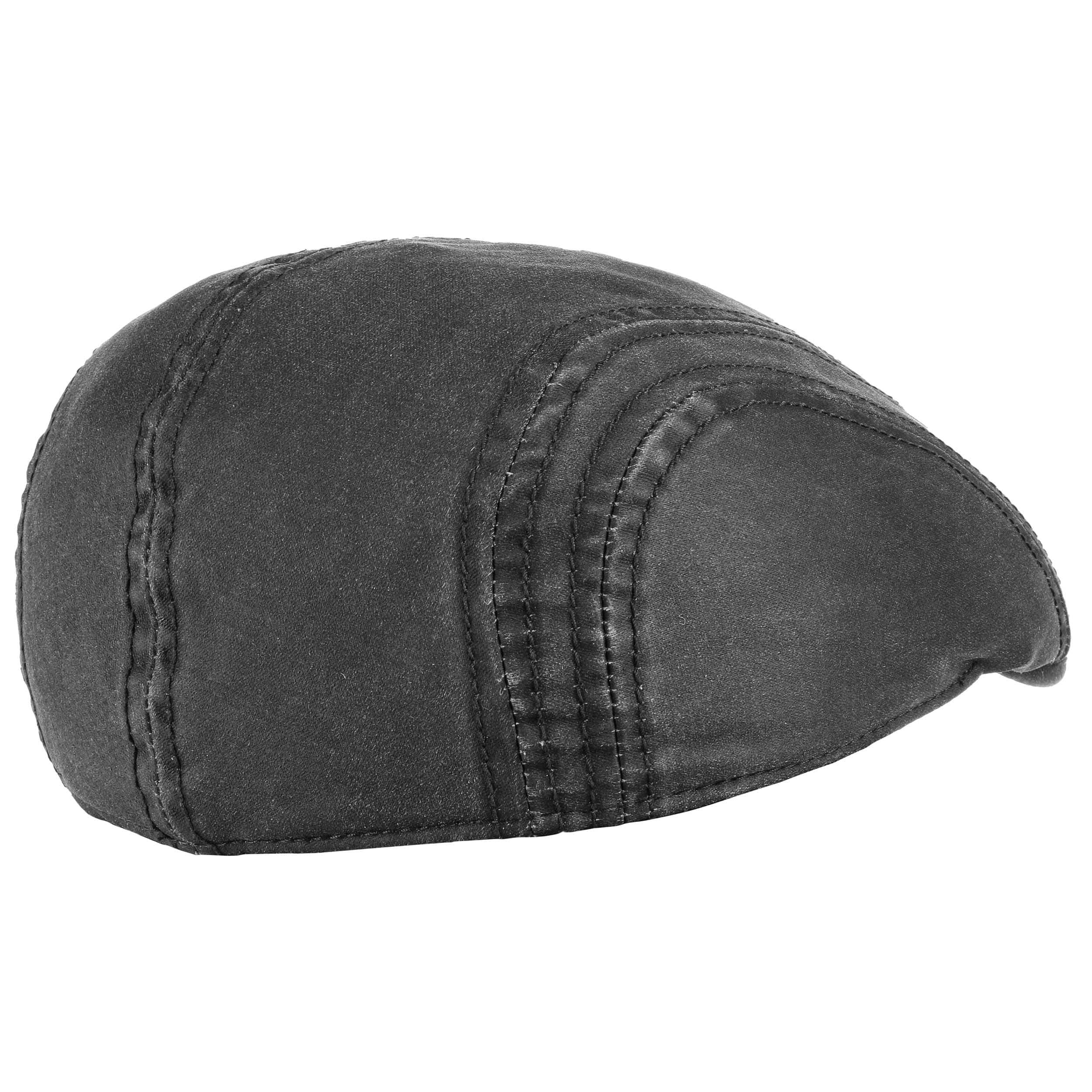 cfde3fbc040 ... Old Cotton Flat Cap with Ear Flaps by Stetson - black 8 ...