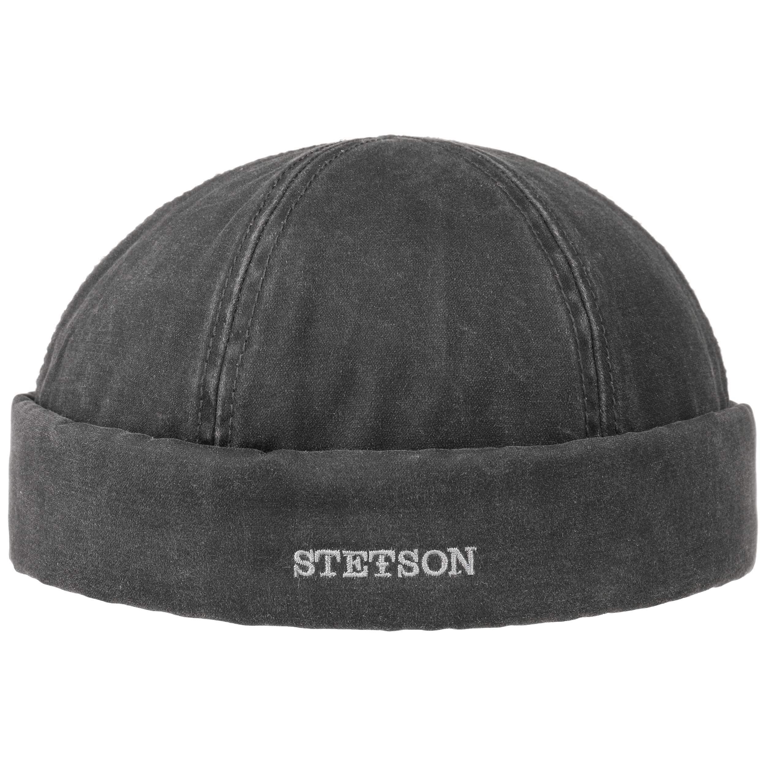 518a903844bef ... Old Cotton Winter Docker Hat by Stetson - black 5