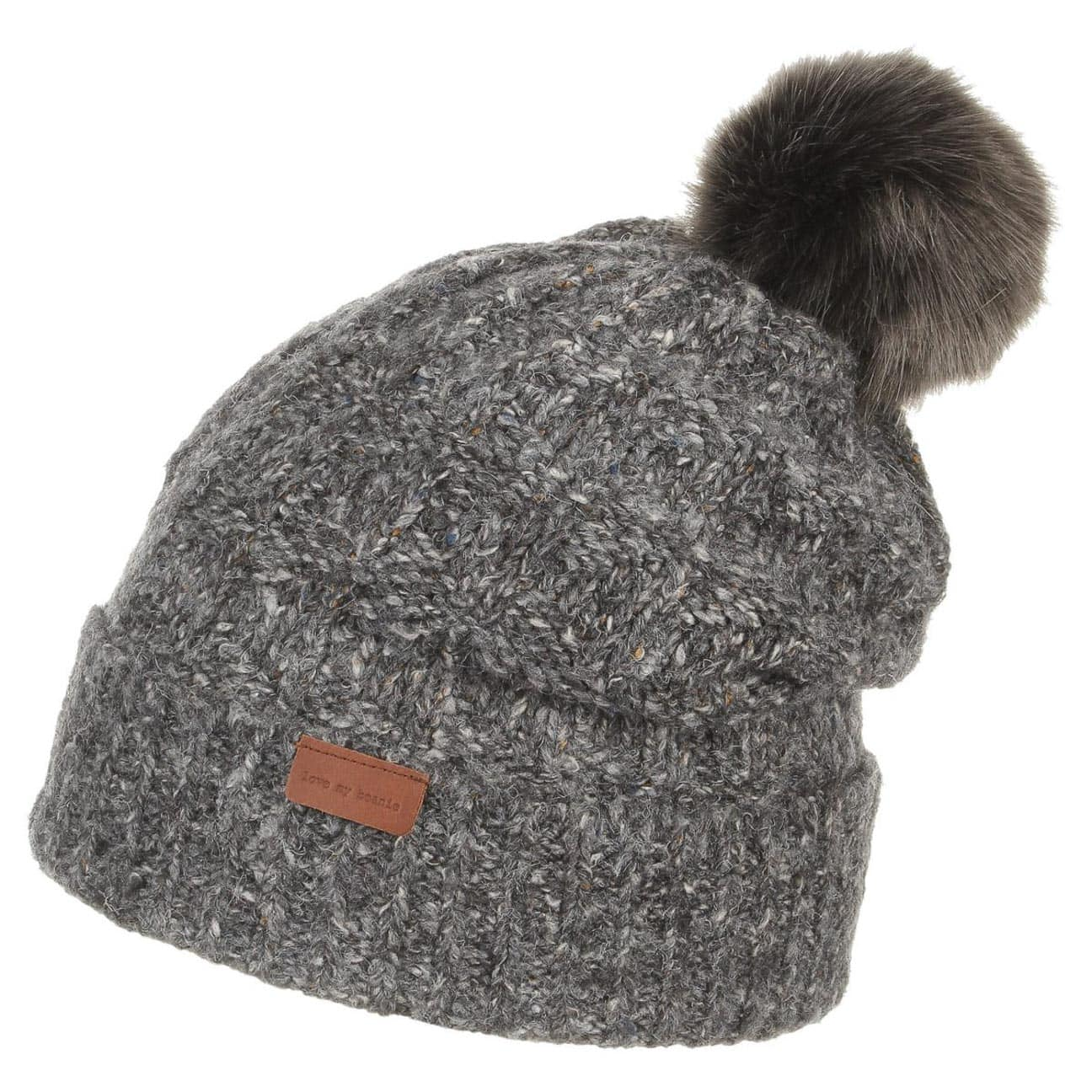 69c3389eb95 Olivia Faux Fur Pom Pom Hat by Barts - anthracite 1 shopping ea6f8 . ...