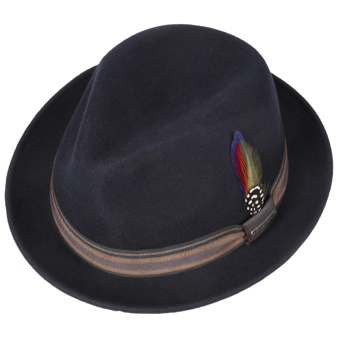 81342891315 ... Oneida Snap Brim Trilby Hat by Stetson - blue 2 ...