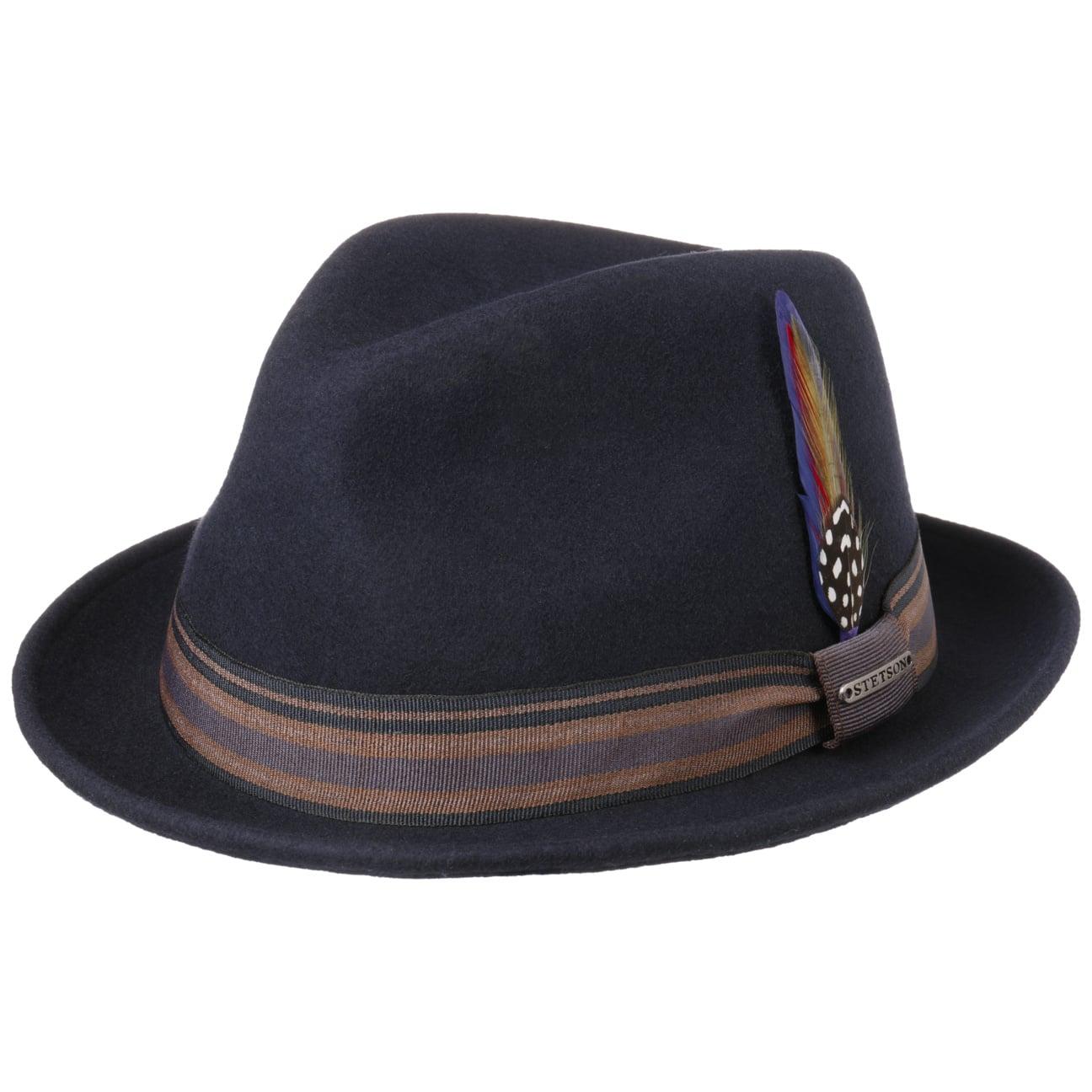05d3a819e3e ... Oneida Snap Brim Trilby Hat by Stetson - blue 6 ...