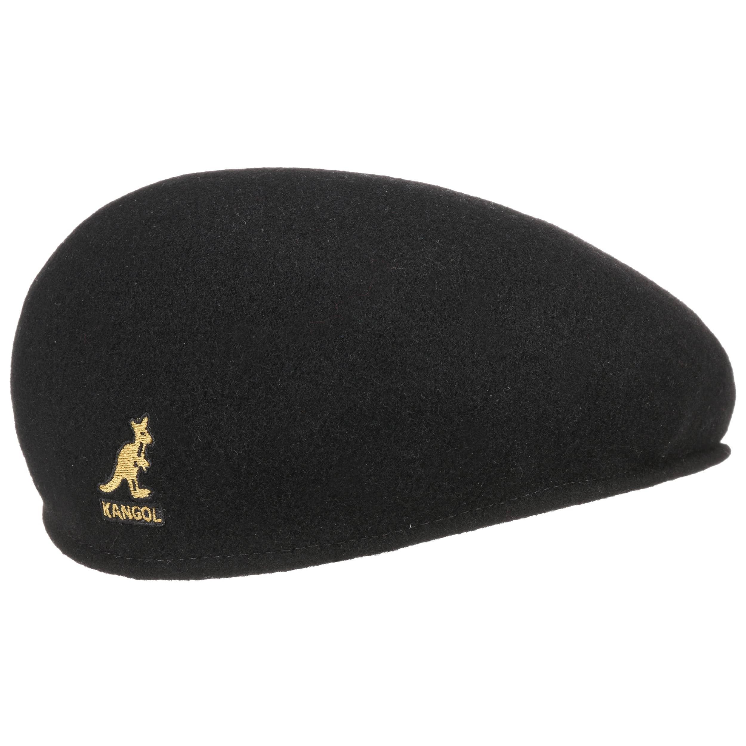 e782761dc7 ... Original 504 Black Gold Flat Cap by Kangol - black 3 ...
