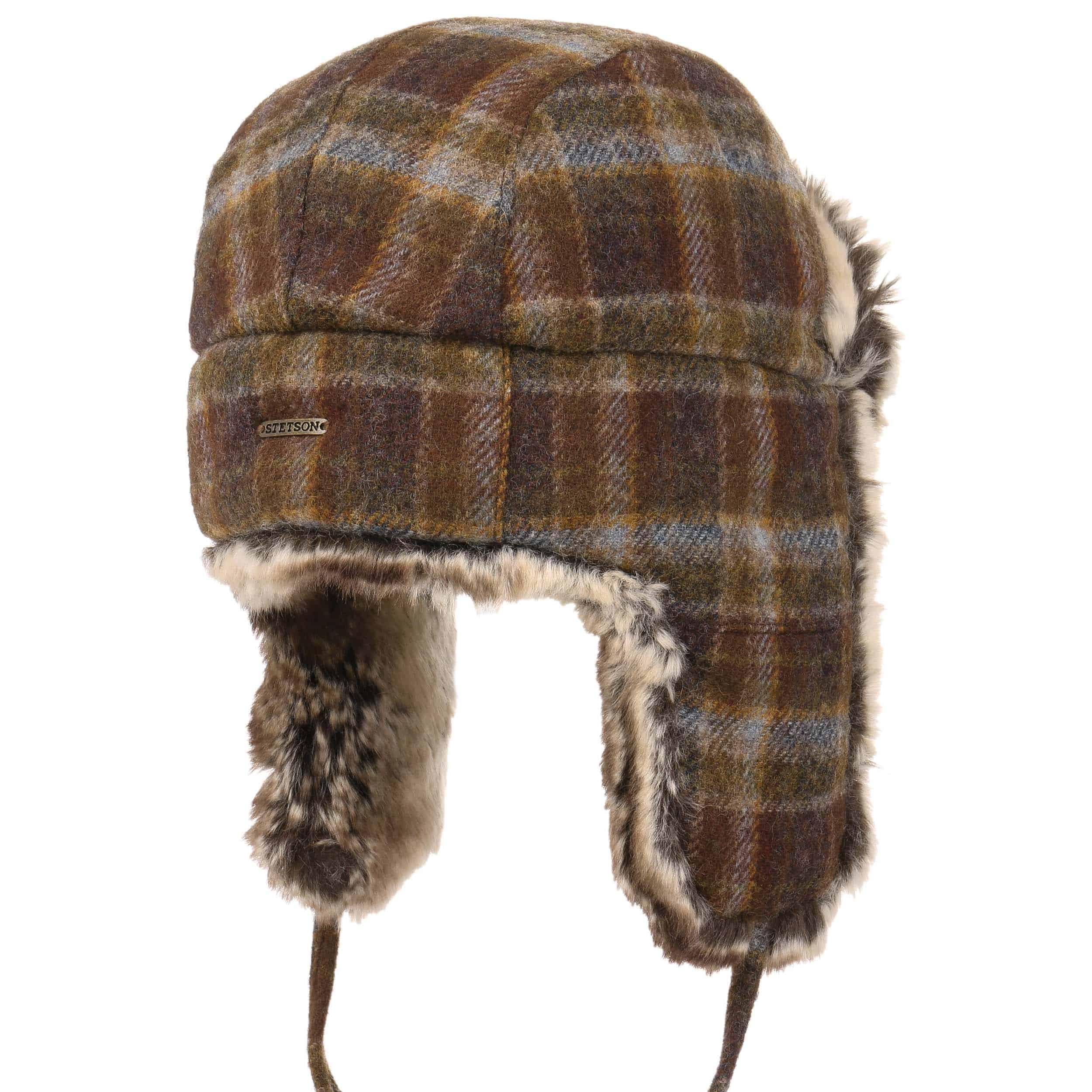 ef7eeef1e9d ... Owasso Woolrich Aviator Hat by Stetson - brown 3 ...