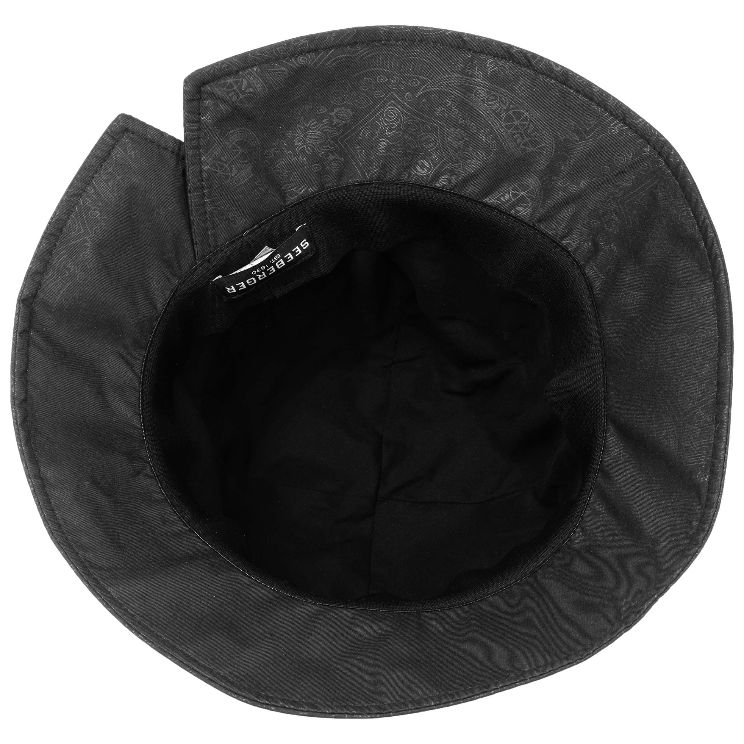 ... Paisley Cloche Rain Hat by Seeberger - black 2 ... bef9136b7b5a