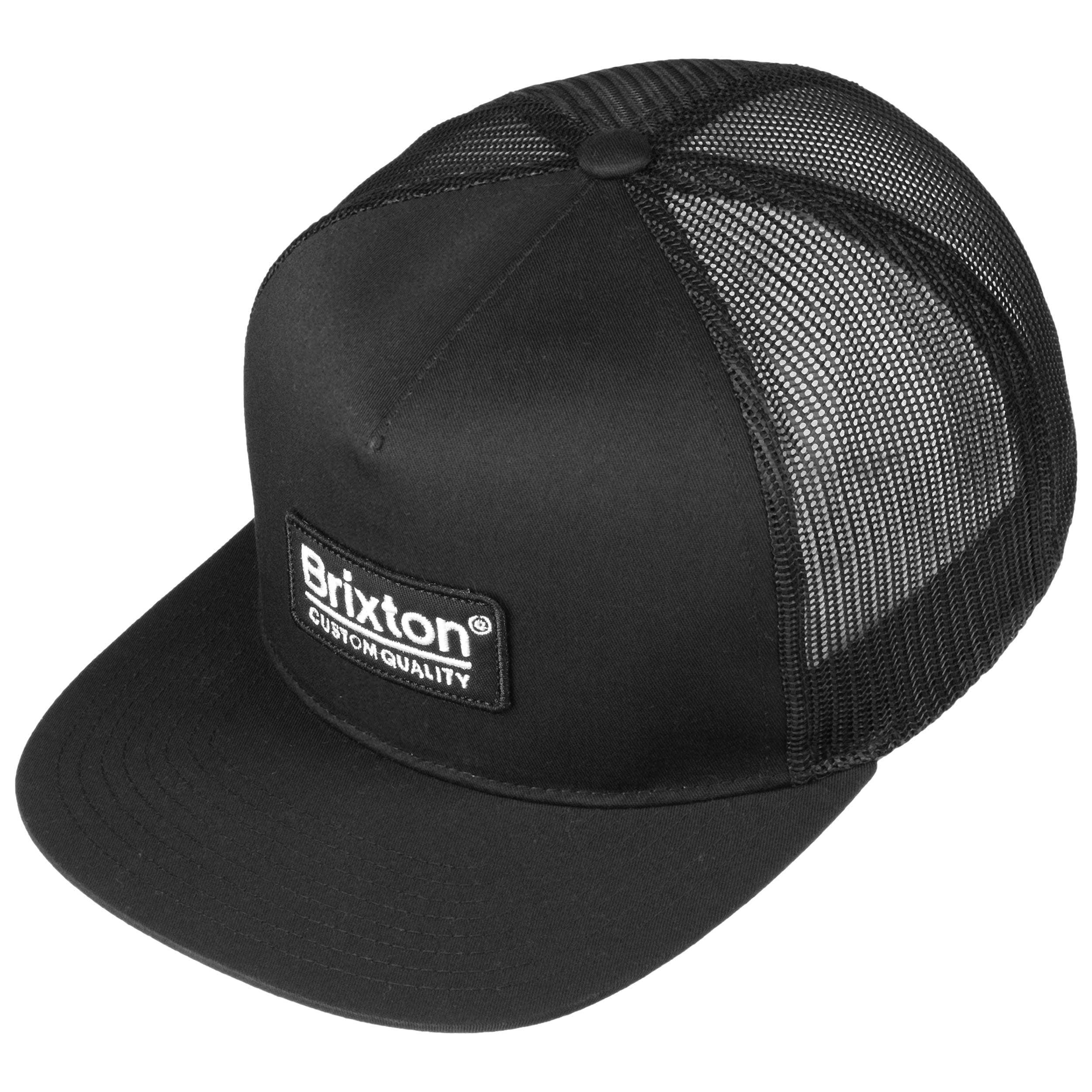 9bae9d101c8 ... Palmer Mesh Cap by Brixton - black-black 1 ...