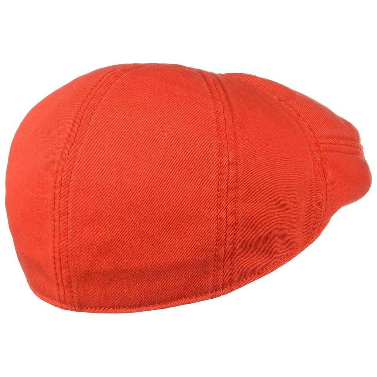 ... Paradise Cotton Flat Cap by Stetson - orange 4 ... 85857902bf68