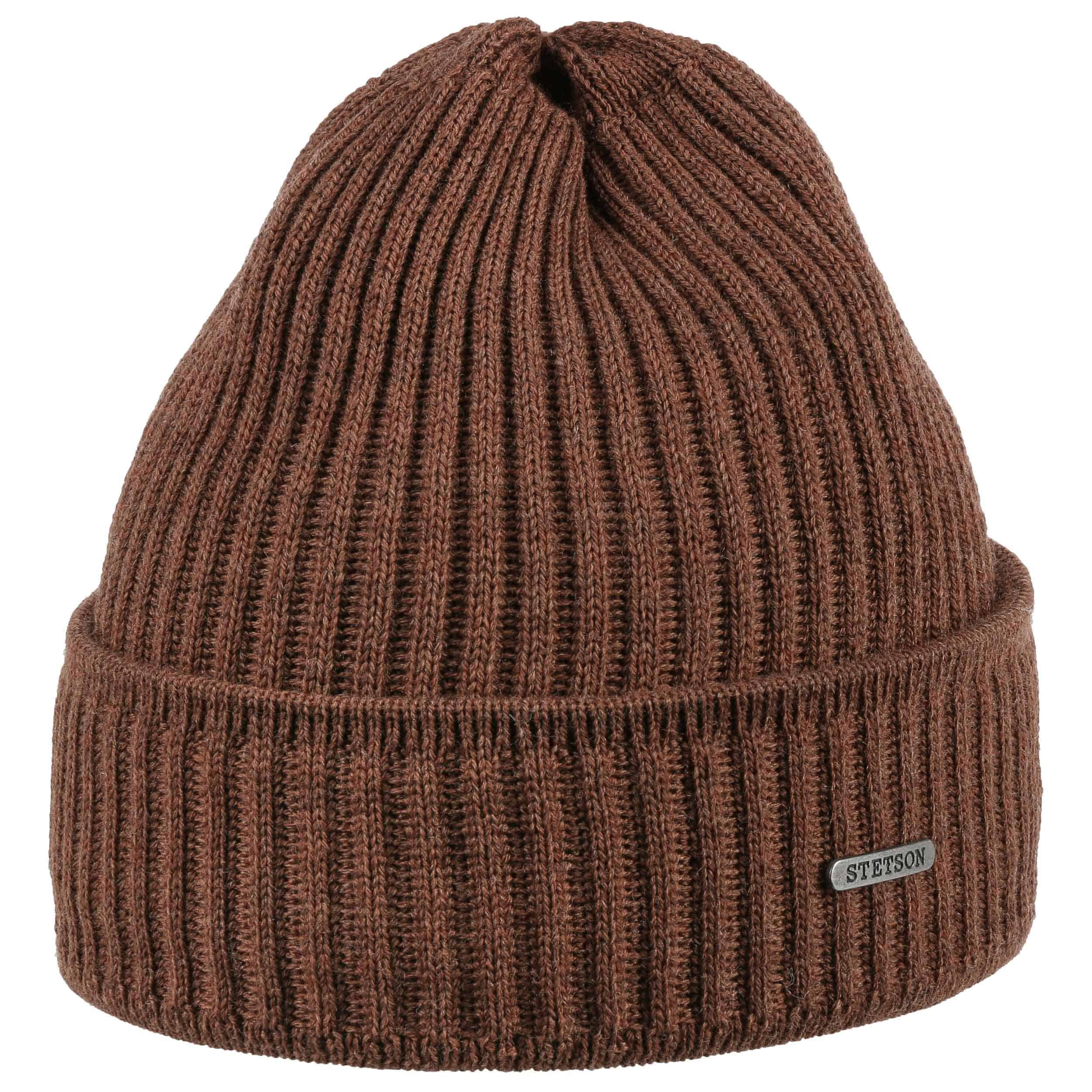 dc3da77943b ... Parkman Knit Hat by Stetson - light brown 3 ...