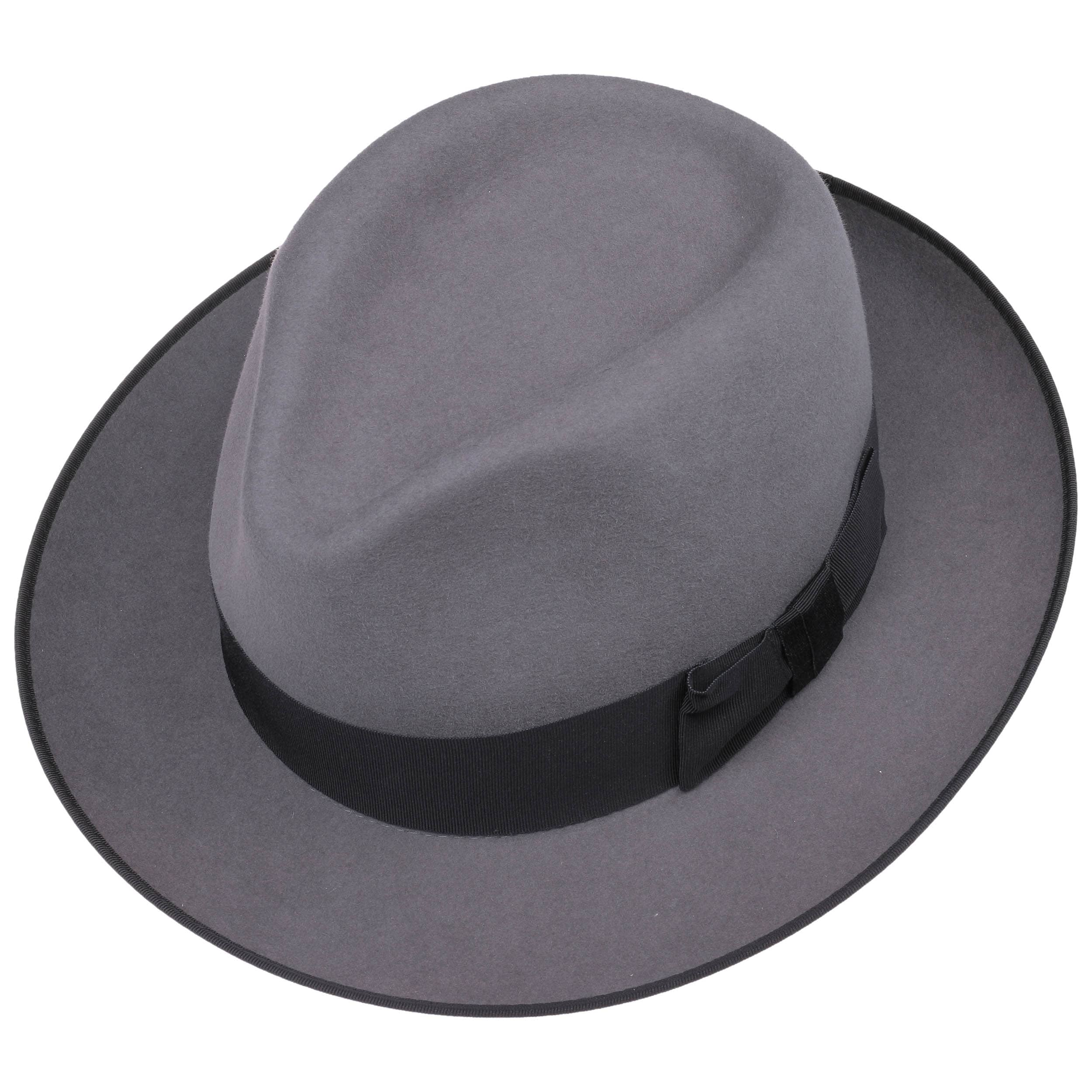 5f39cabf9b24ce ... Penn Fedora Fur Felt Hat by Stetson - grey 1 ...