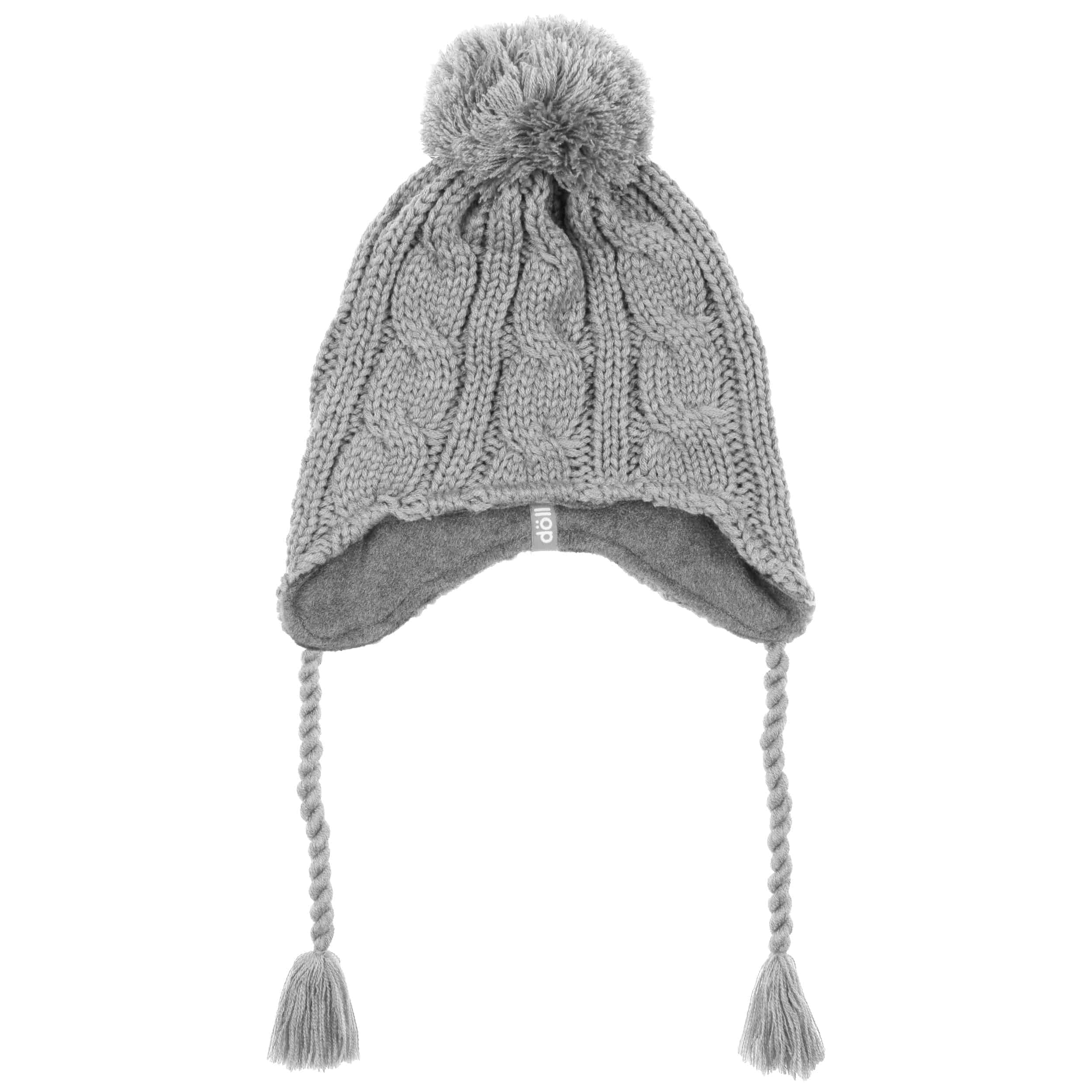 ae5363684cd ... Peruvian Cable Knit Hat by Döll - light grey 1 ...