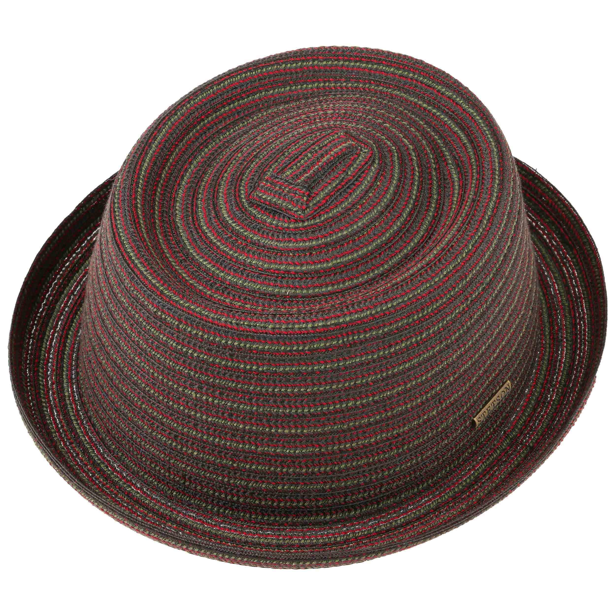 Pico Pork Pie Cloth Hat by Stetson - black-red 1 ... d868544d8e19
