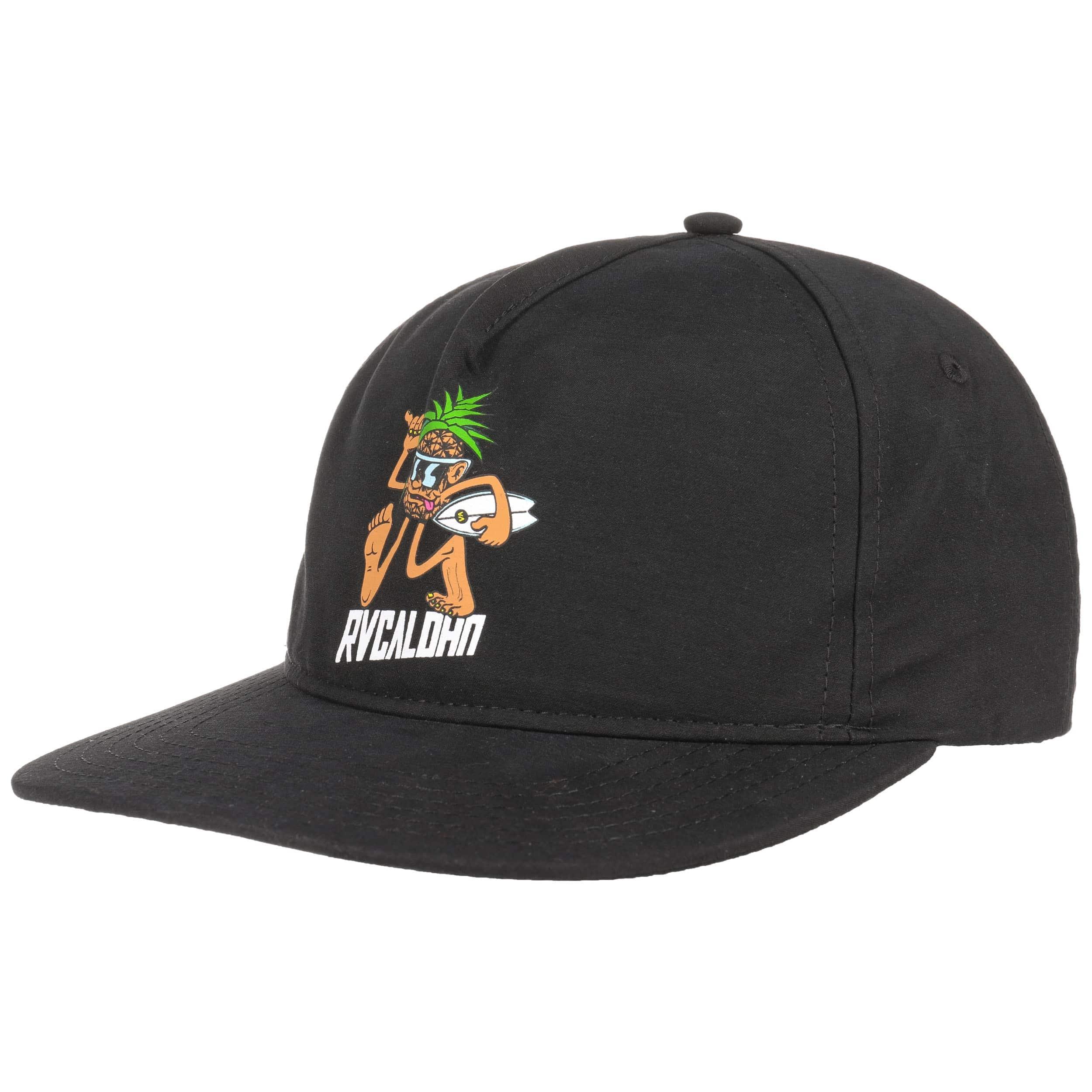 brand new 0df53 4039b ... shopping pineapple man snapback cap by rvca black 5 eb2b7 47464 ...