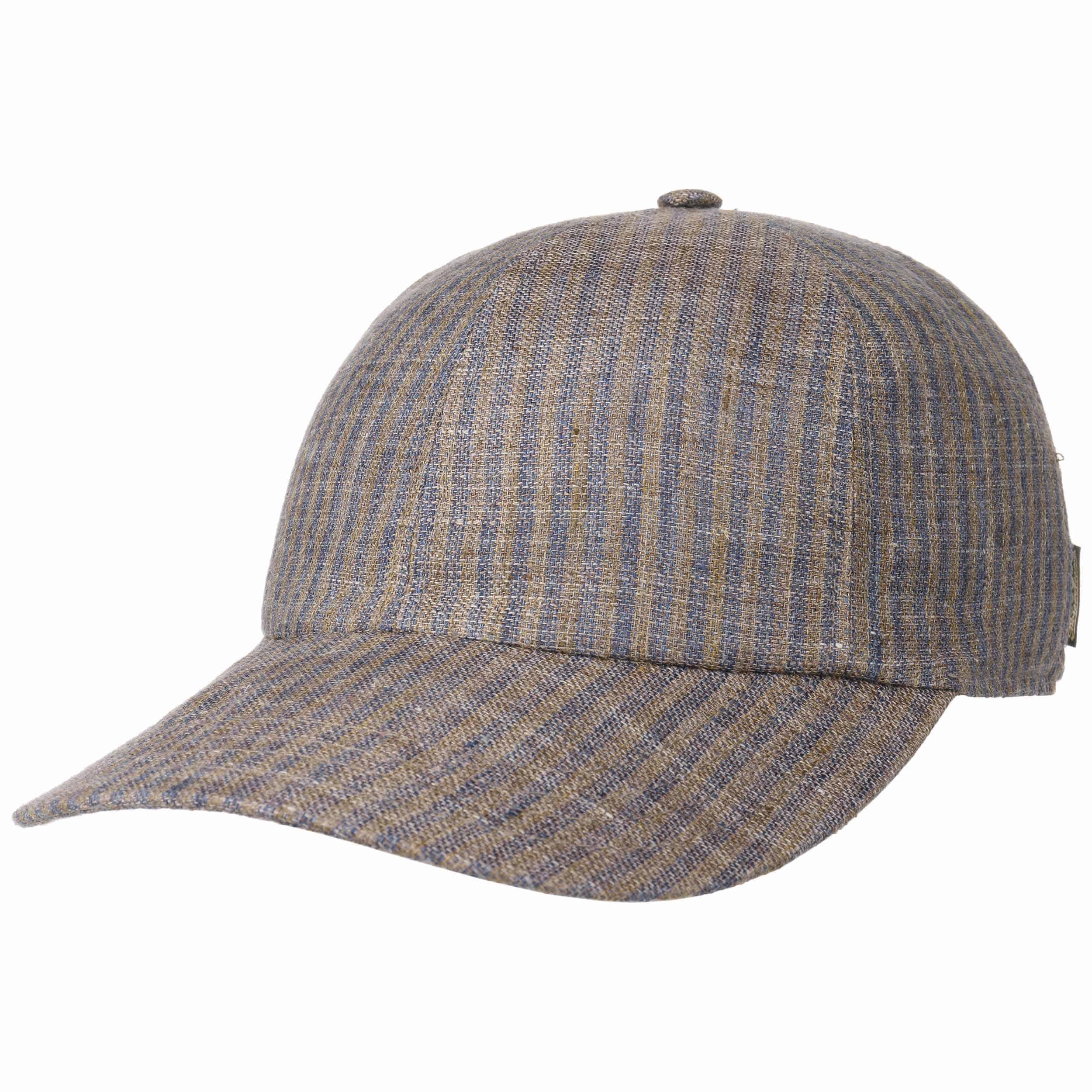 65307ad929c04 ... Pinstripe Baseball Cap by Borsalino - brown 5