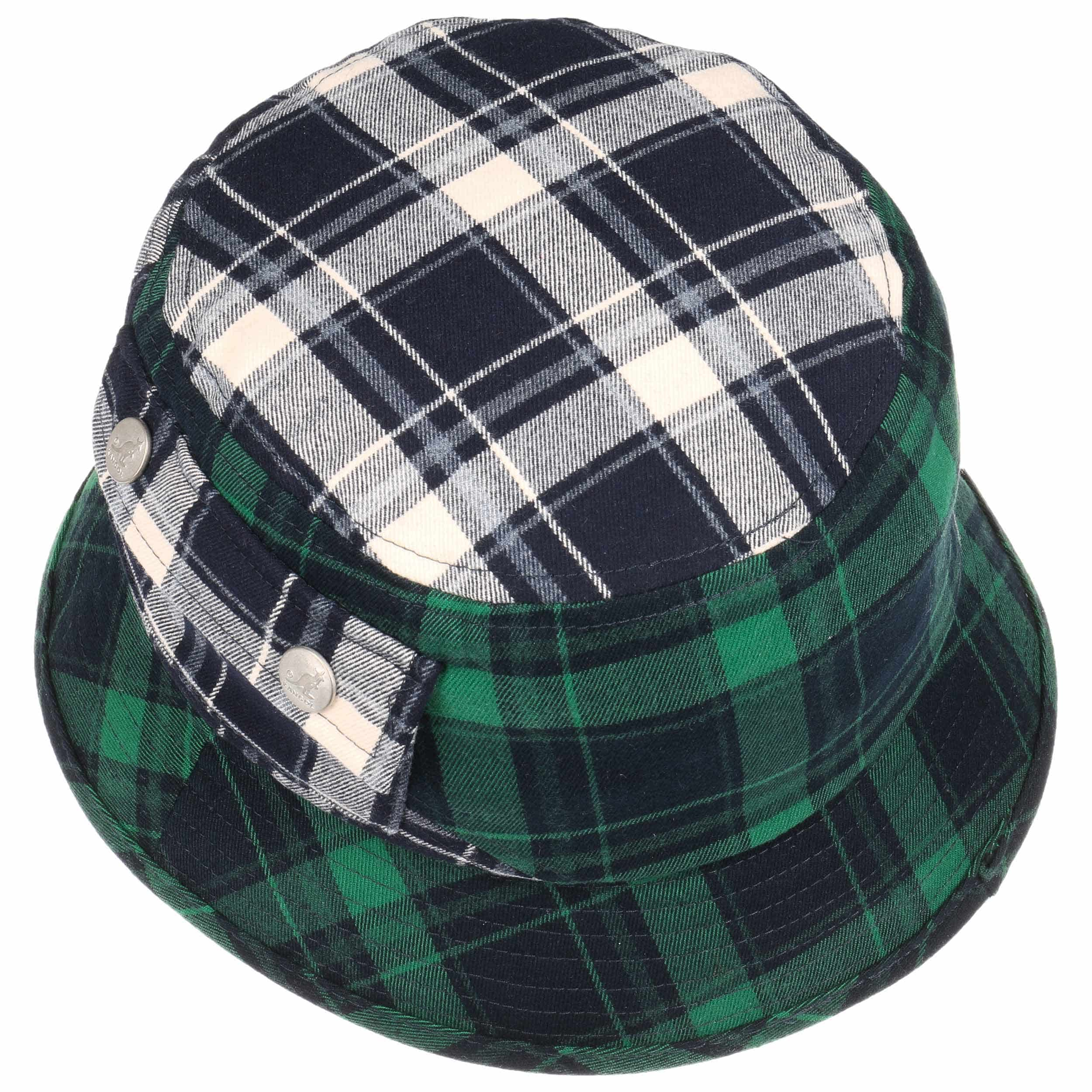 931fdd1e4cf21b Plaid on Plaid Bucket Hat by Kangol - blue-green 1 ...