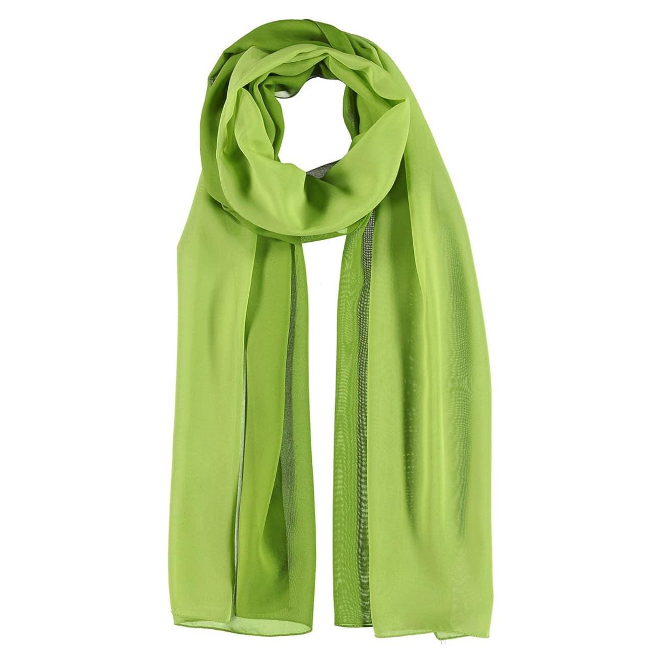 bf10076fd7bc7b ... Polyester Chiffon Scarf by Passigatti - green 1 ...