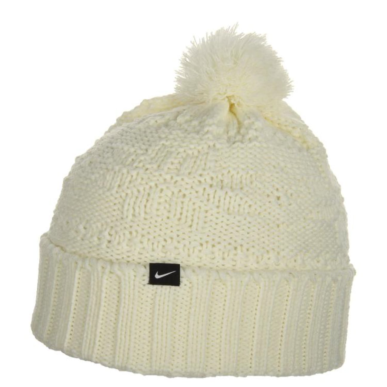 c3100f618ac ... Pom Pom Knit Hat for Women by Nike - black 1