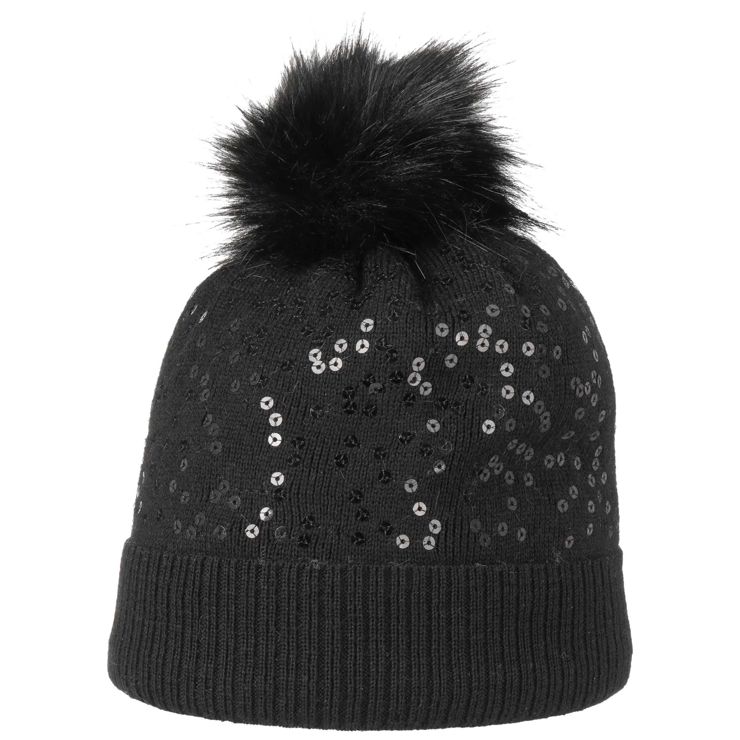 ff0c67aa593 ... Pompom Hat with Sequins by maximo - black 3