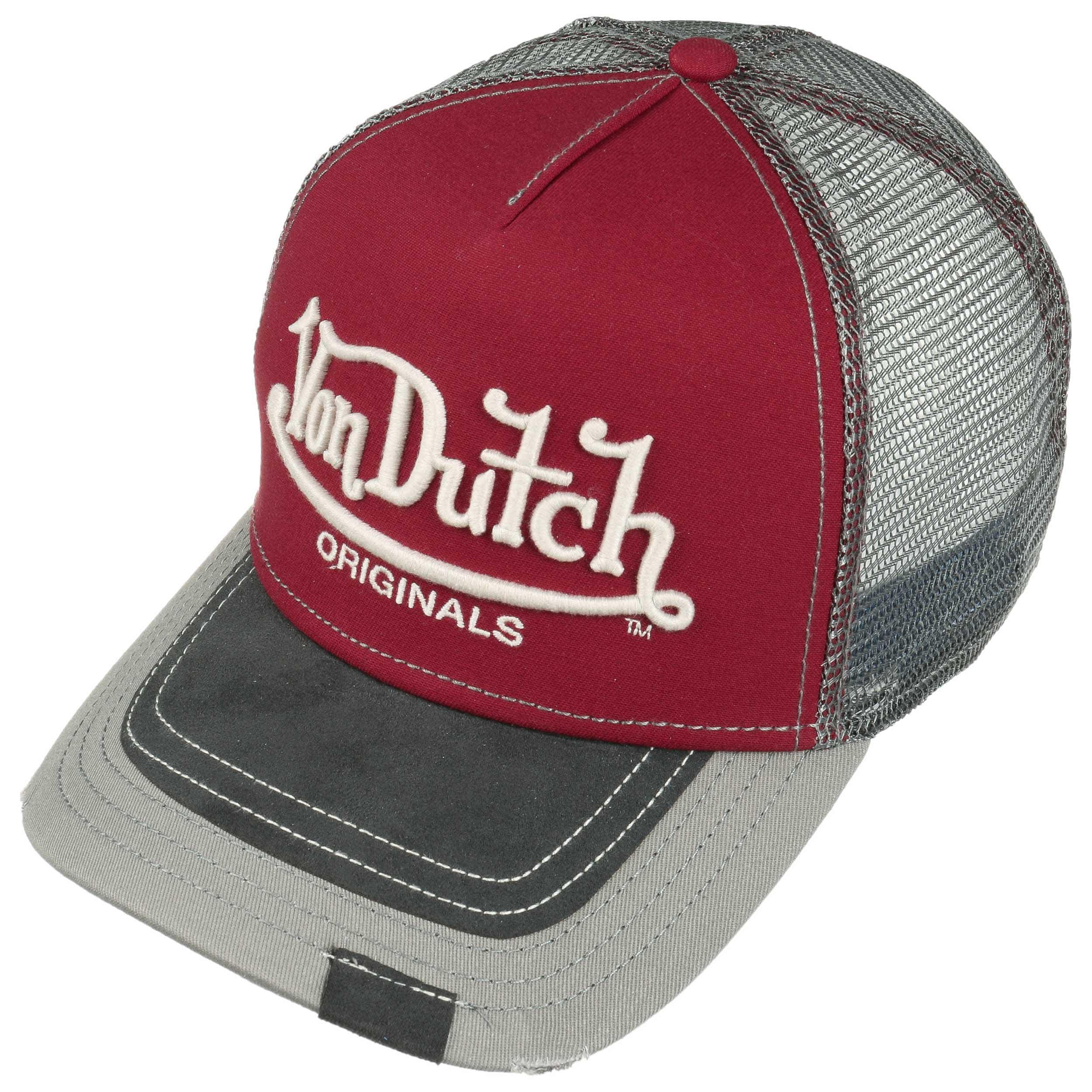 c0194ce581e055 ... Premium Logo Trucker Cap by Von Dutch - dark red 1 ...