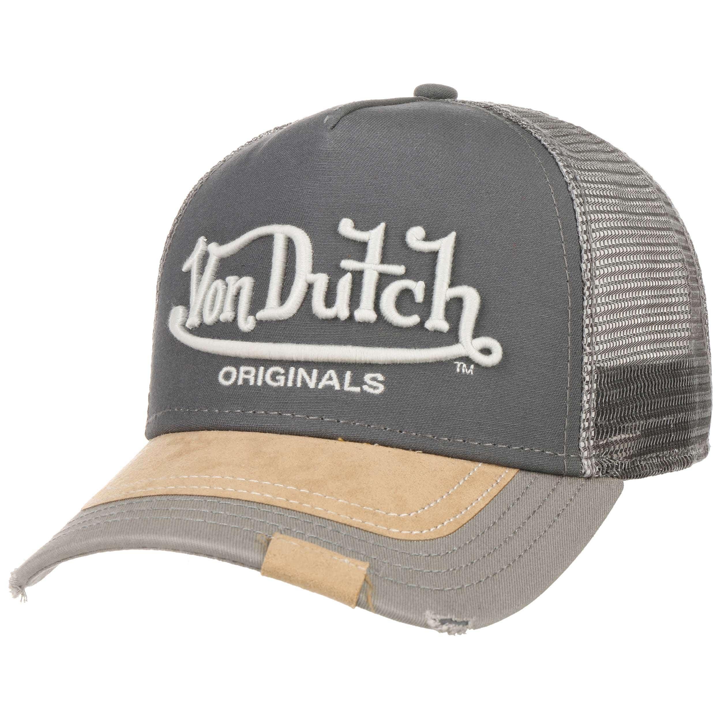 5ce2c9961d869 ... Premium Logo Trucker Cap by Von Dutch - grey 6 ...